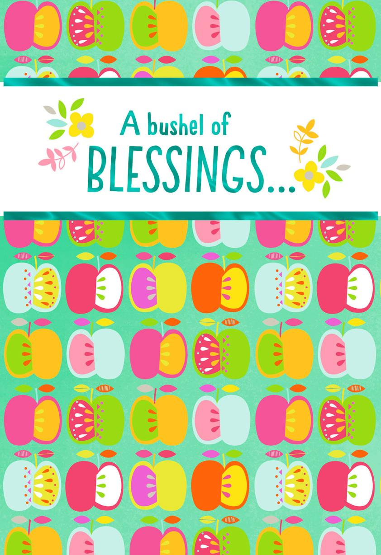 A bushel of blessings rosh hashanah card greeting cards hallmark a bushel of blessings rosh hashanah card m4hsunfo