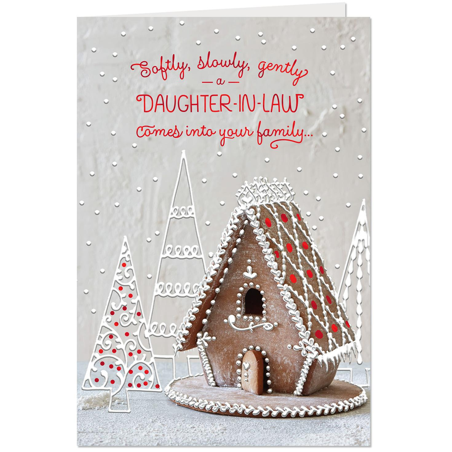 Gingerbread Cottage Christmas Card For Daughter In Law Greeting