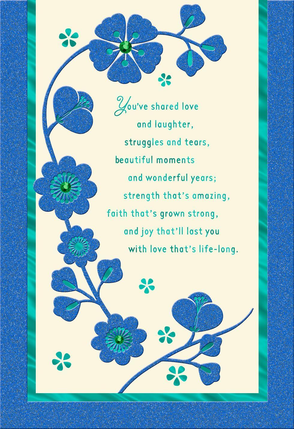 beautiful moments anniversary card  greeting cards  hallmark