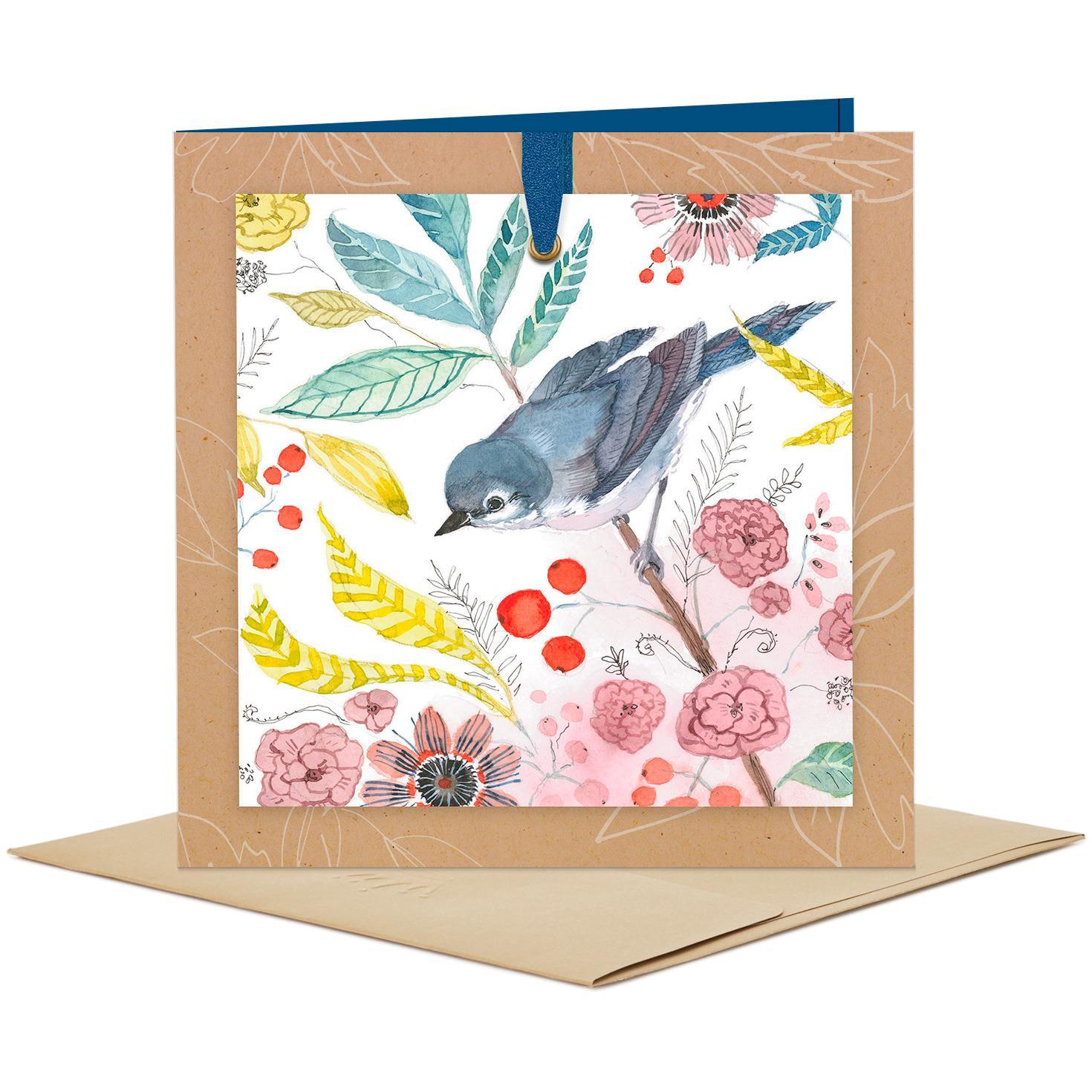 Bluebird And Flowers Blank Card Greeting Cards Hallmark