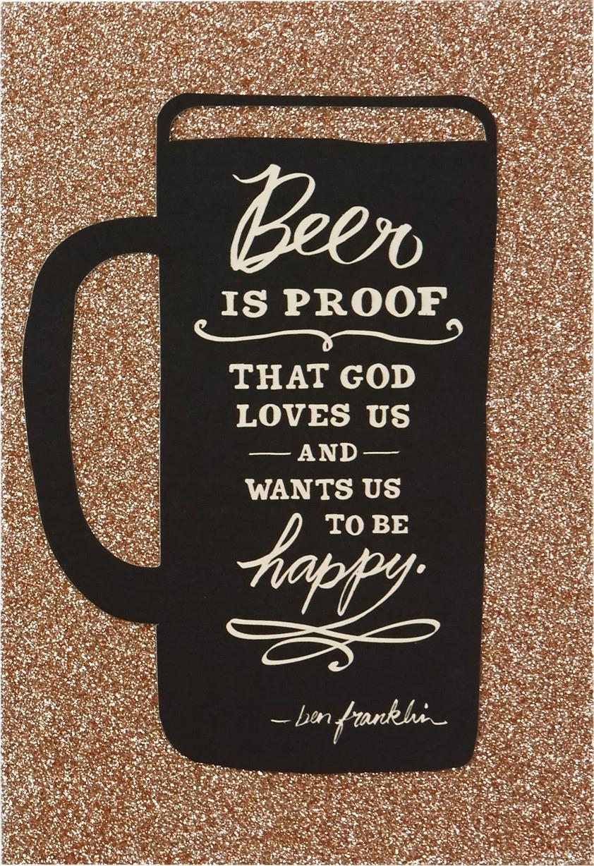 beer and be happy birthday card - greeting cards
