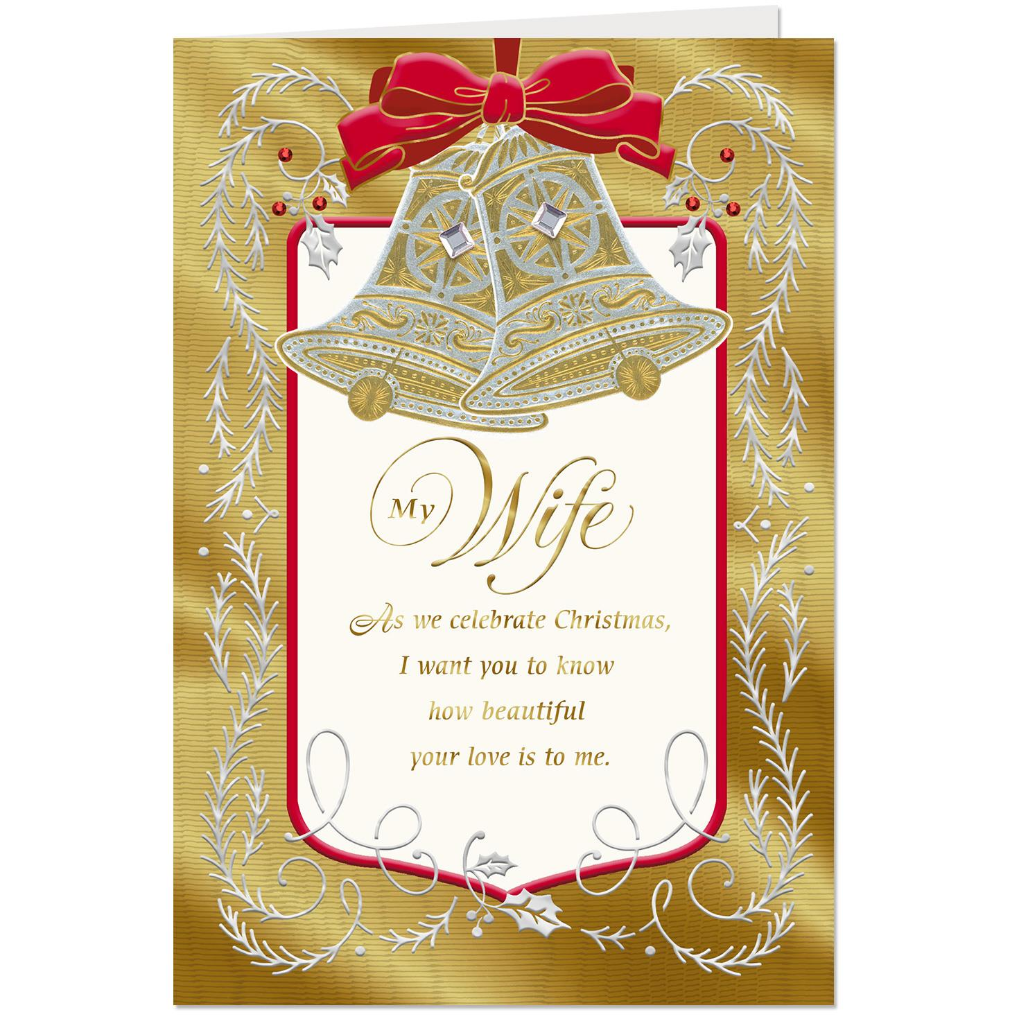 our love is so beautiful christmas card for wife