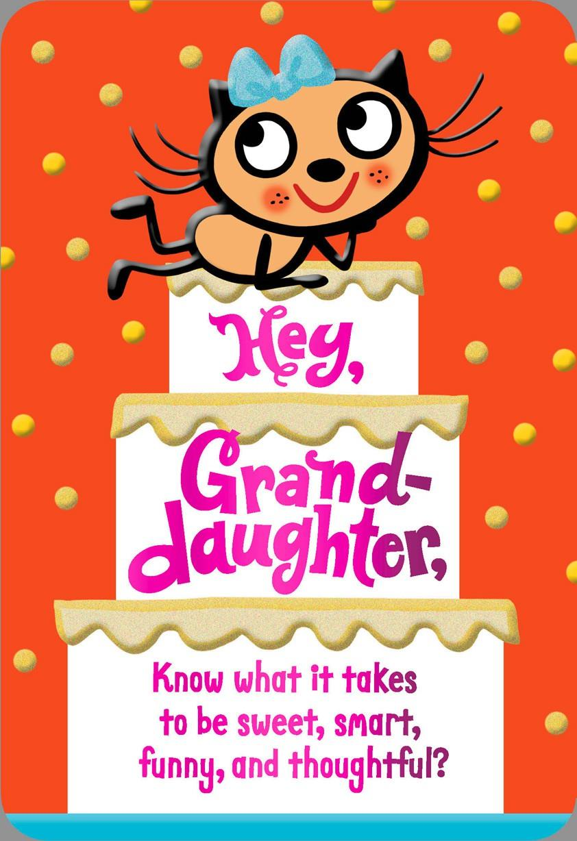 Compliments For You Granddaughter Birthday Card