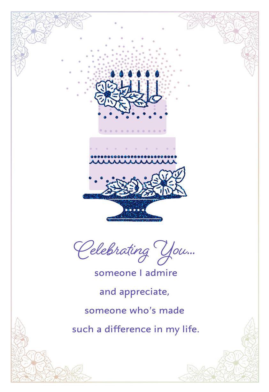 Elegant Cake Like A Mom Birthday Card