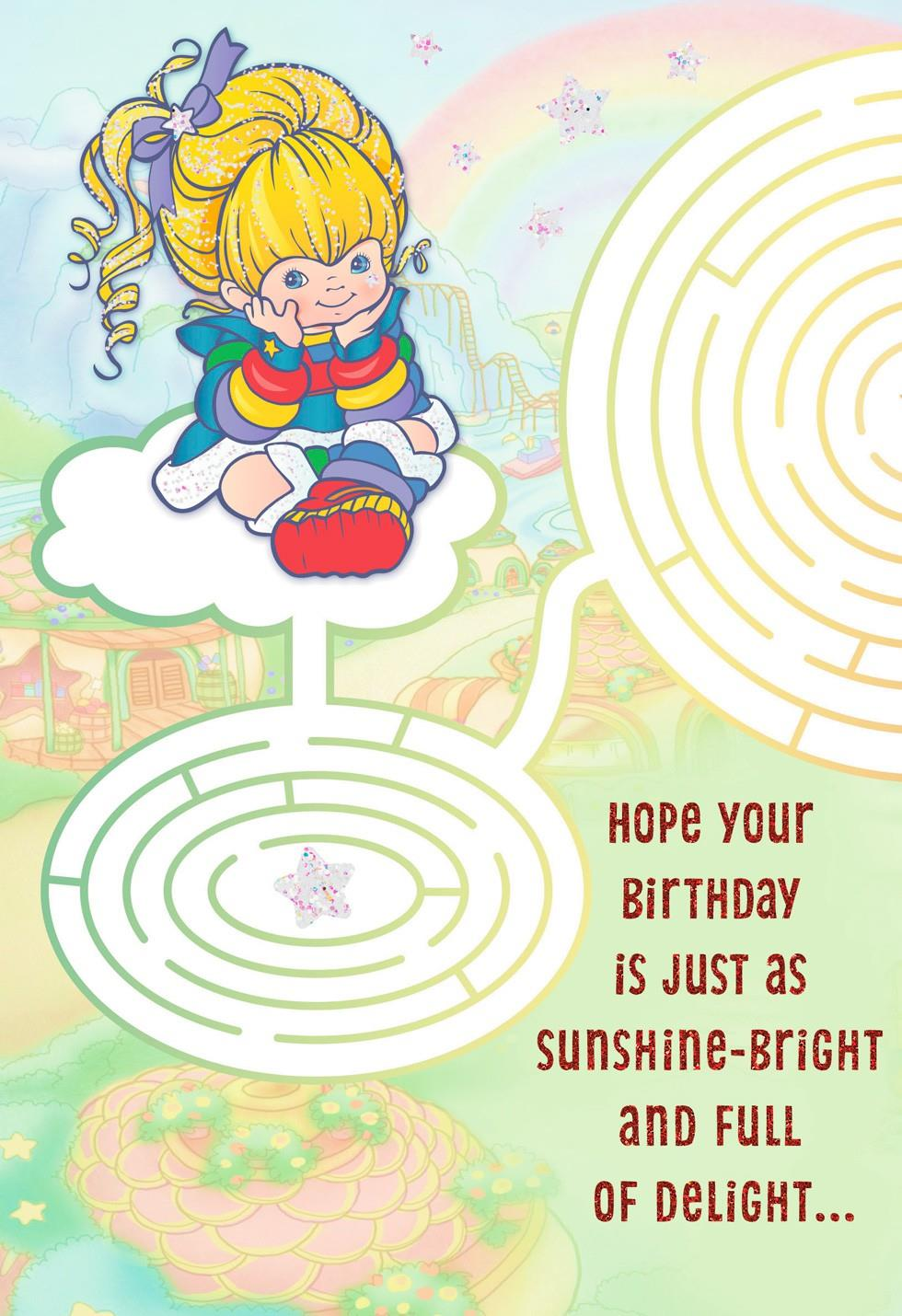 Rainbow Brite Maze Birthday Card Greeting Cards Hallmark