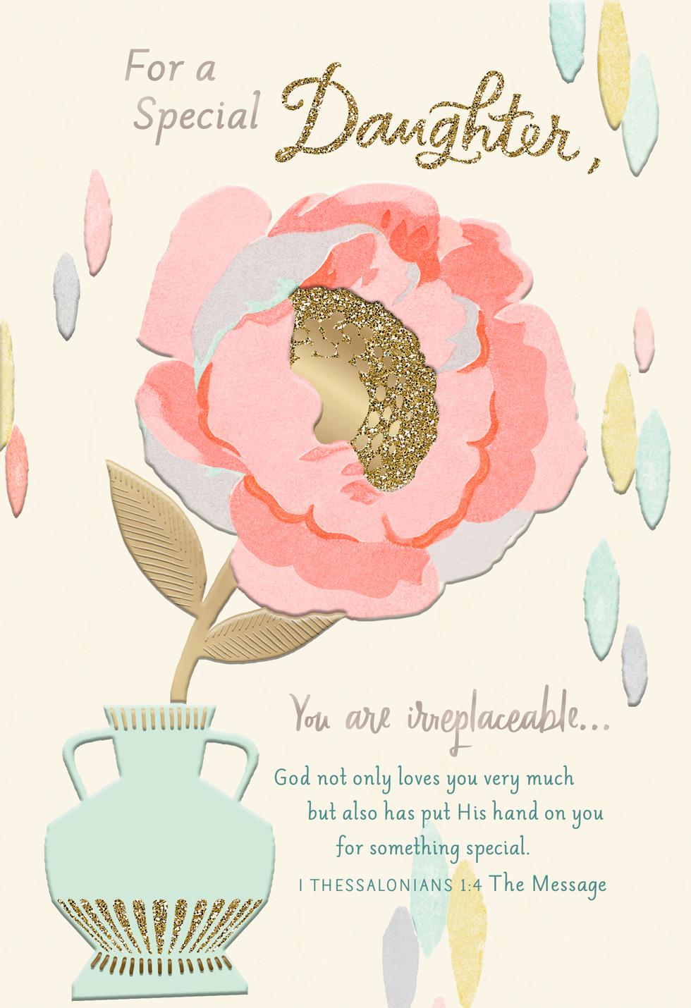 spring blooms religious mother u0026 39 s day card for daughter