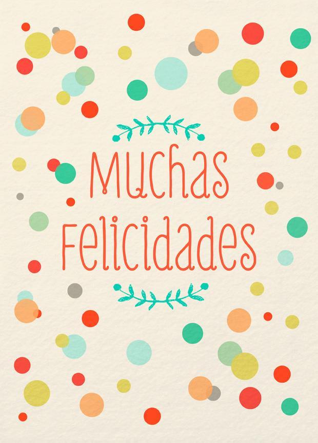 full of happiness large spanish language birthday card 12