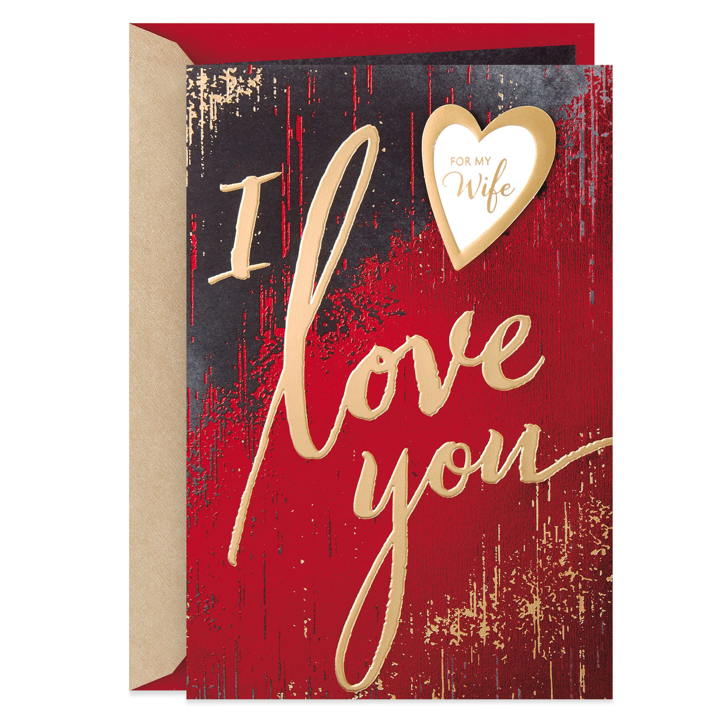 i love you valentine's day card for wife  greeting cards