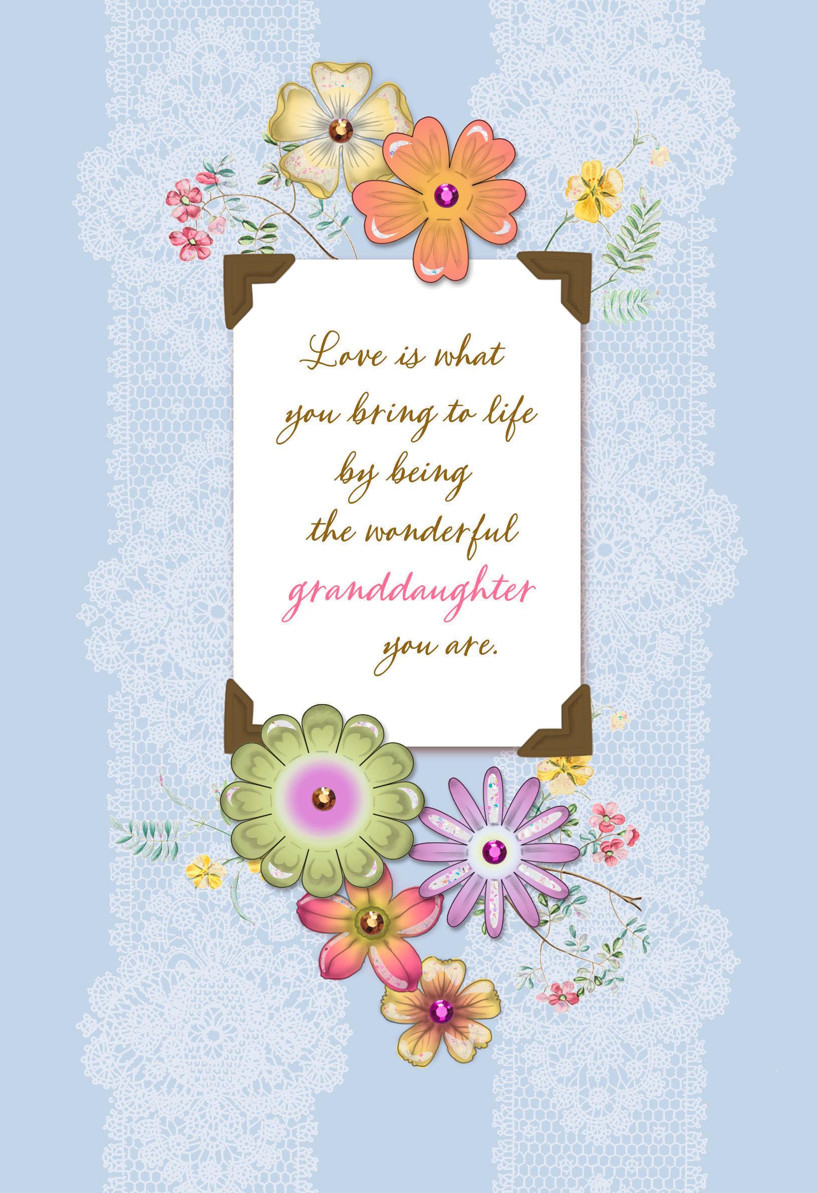 wonderful granddaughter birthday card  greeting cards