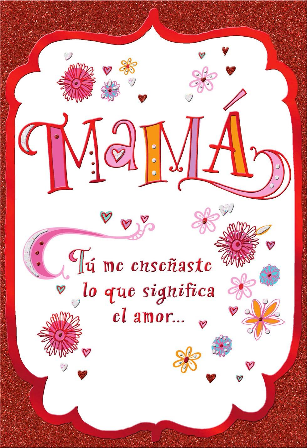 Toll Mamá Love Spanish Valentineu0027s Day Card