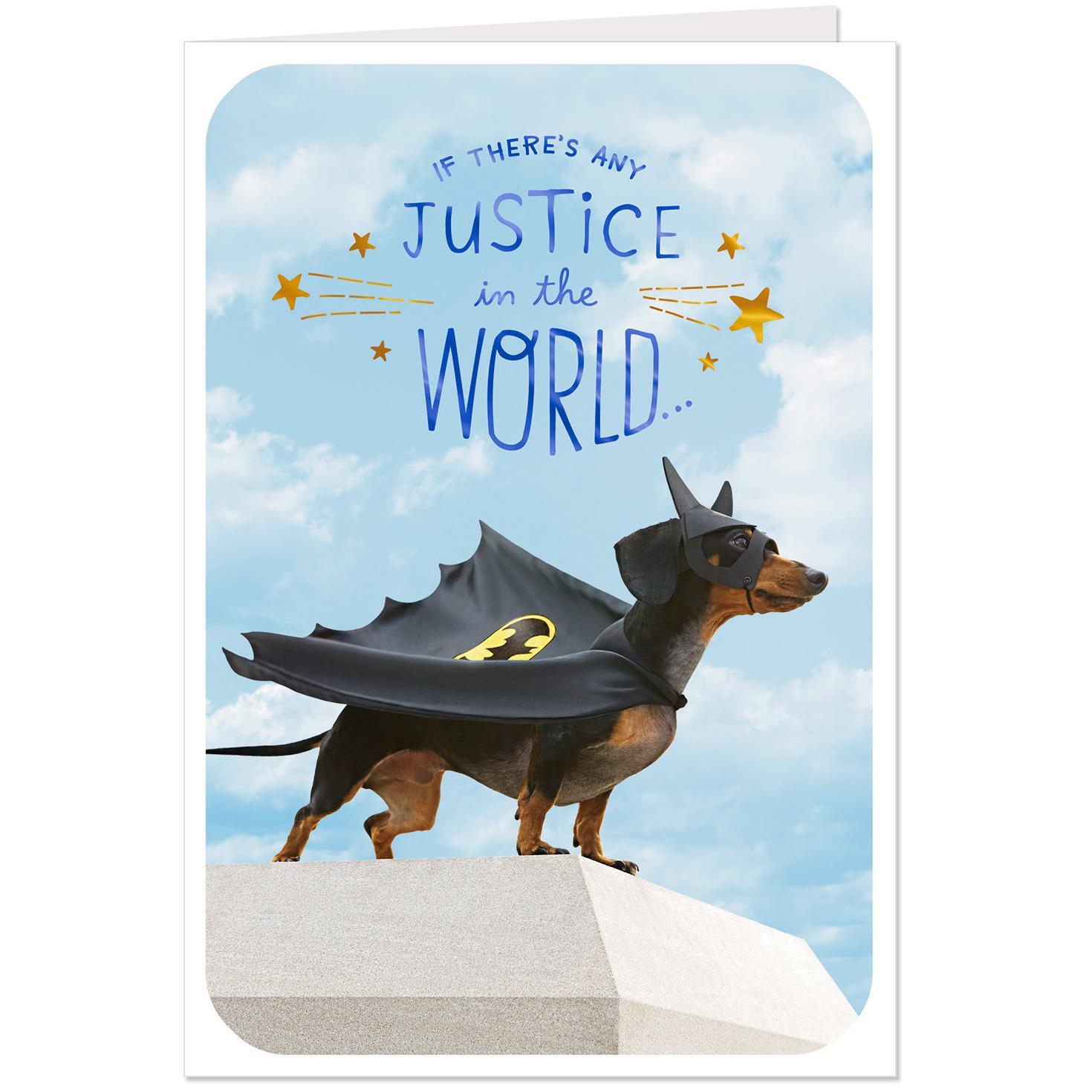 Dc Comics Batman Wiener Dog Get Well Card Greeting
