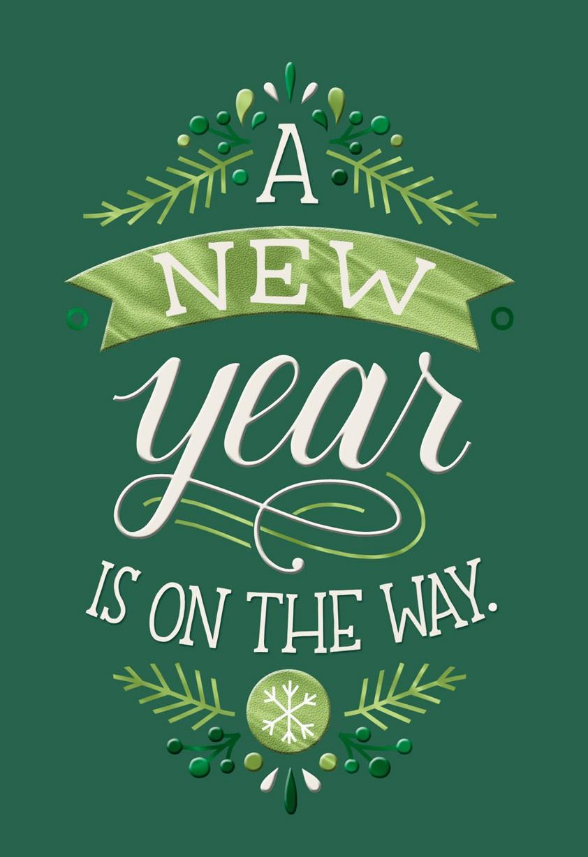 New Year Thanks Christmas Card Greeting Cards Hallmark