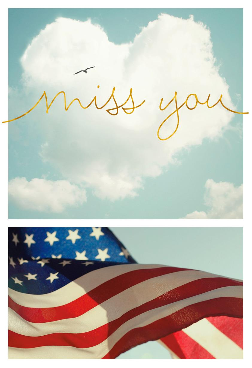 Miss you cards hallmark star spangled military miss you card kristyandbryce Gallery