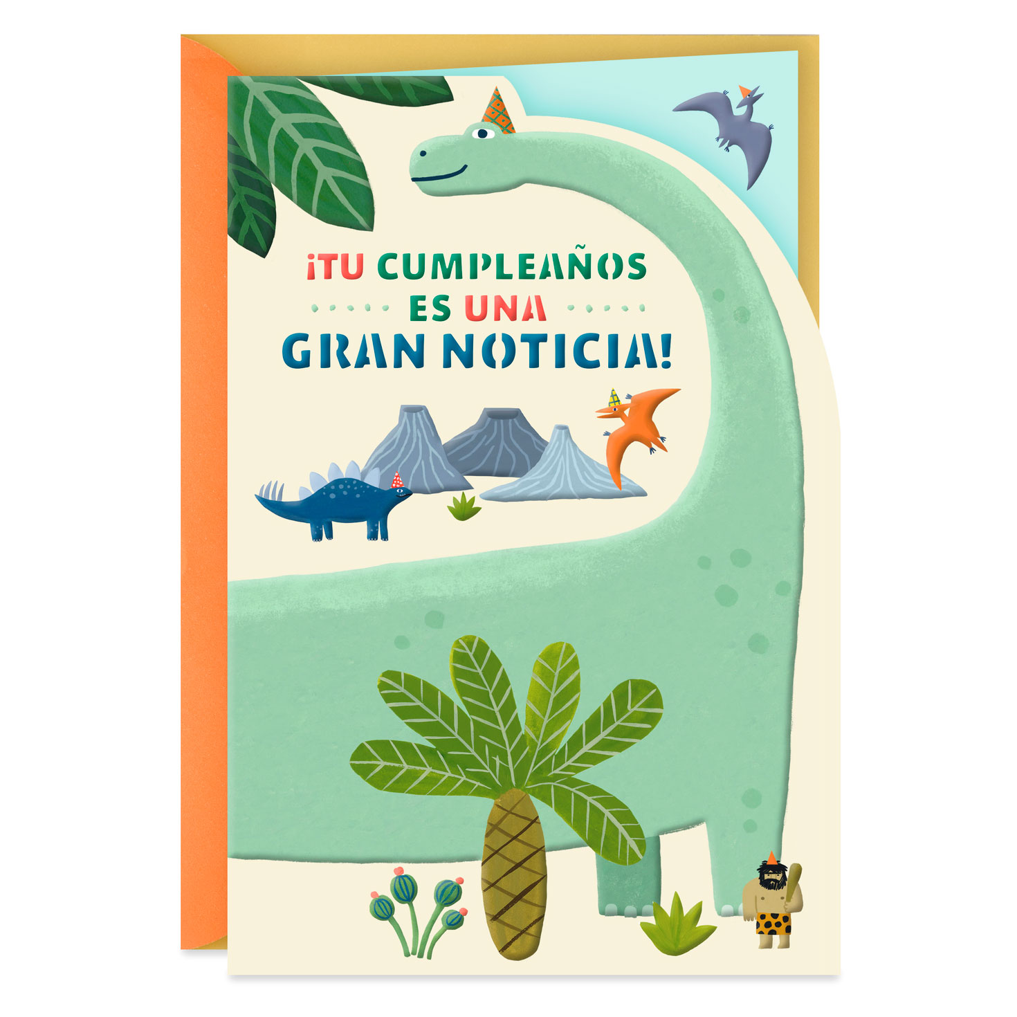 foto de Dinosaurs in Party Hats Spanish-Language Birthday Card - Greeting ...