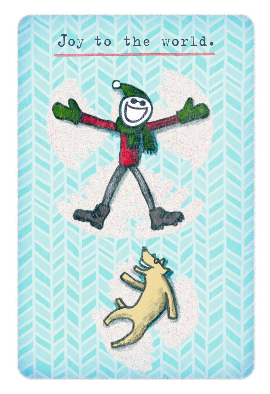 Life is Good® Snow Angels Christmas Card - Greeting Cards - Hallmark