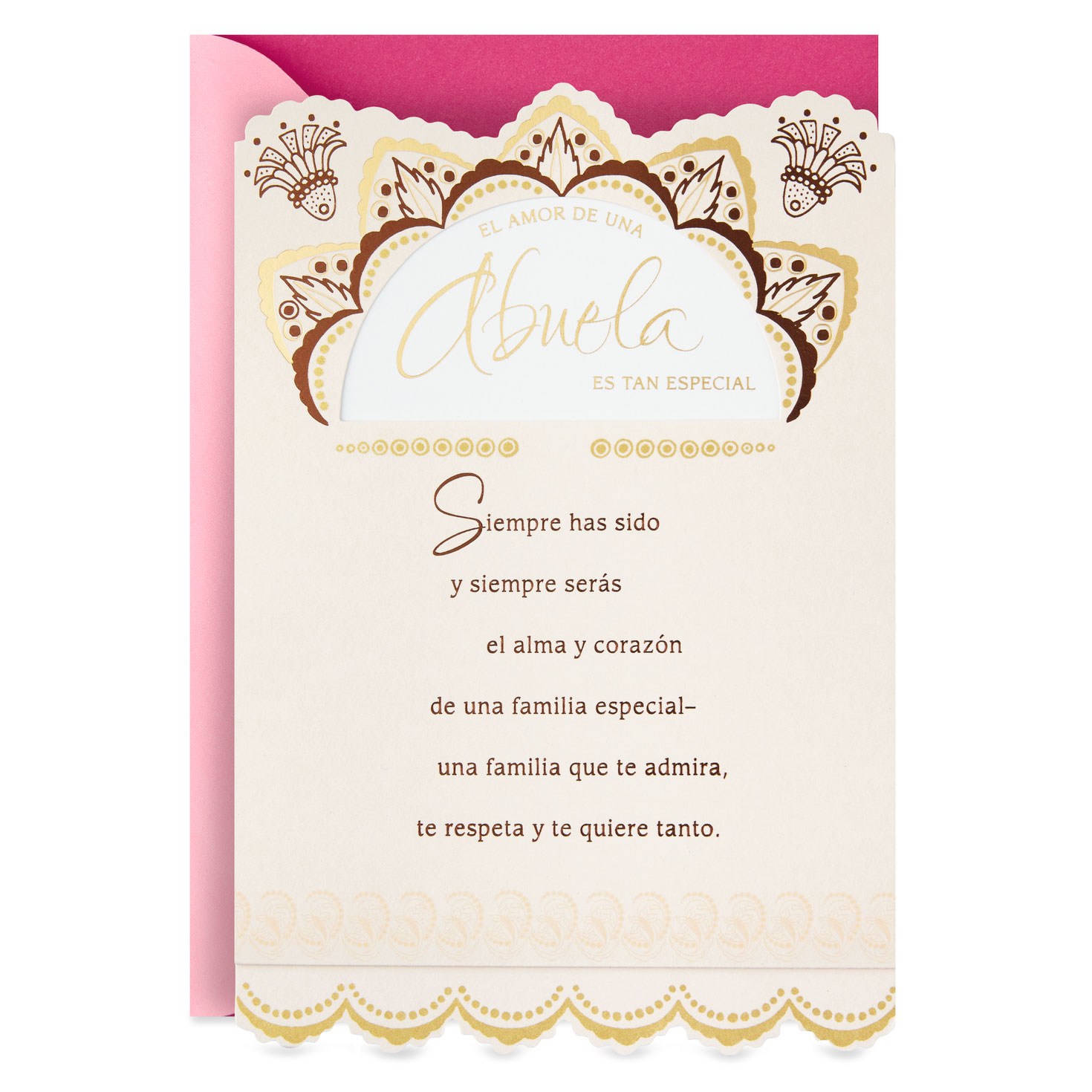love of a grandmother spanish language birthday card greeting