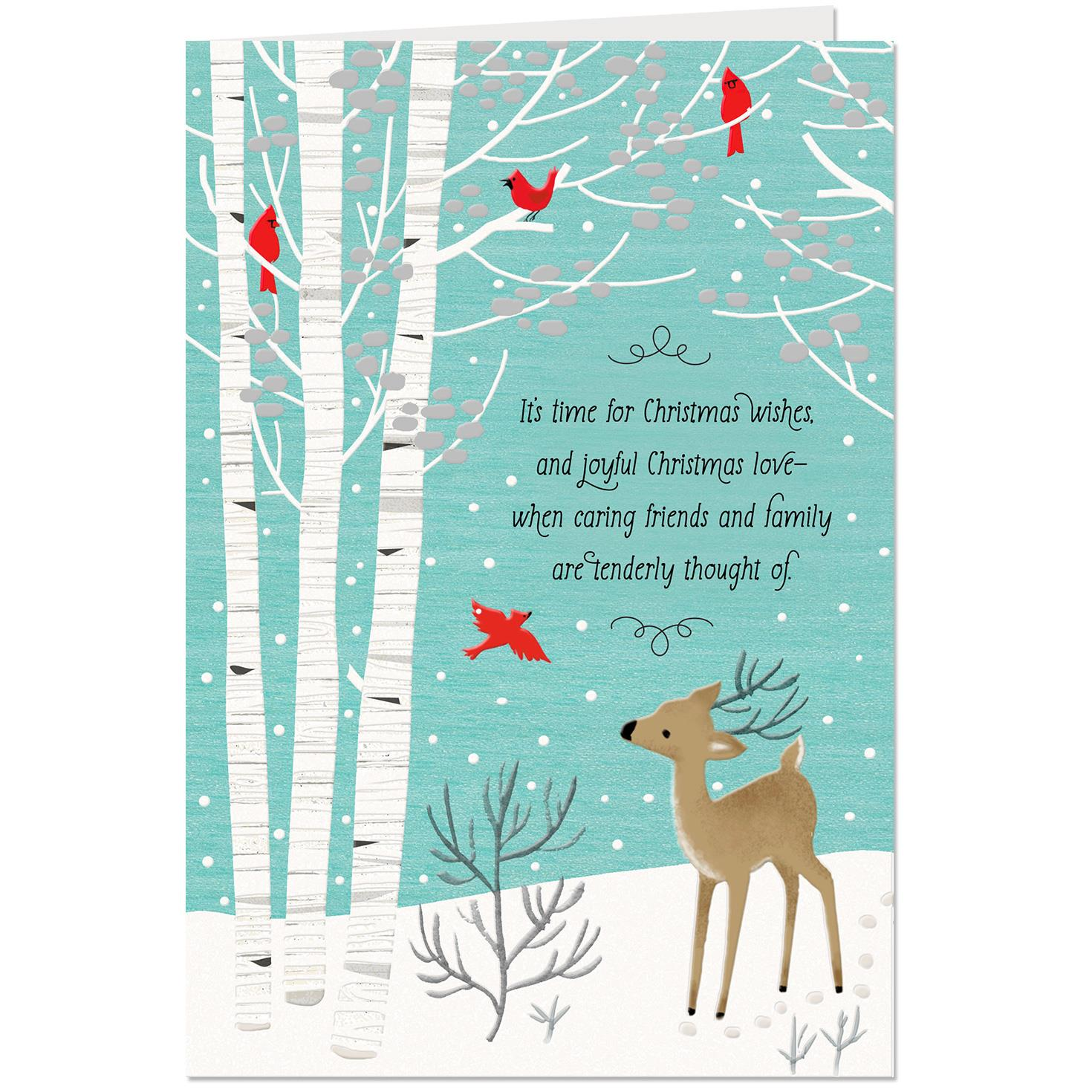 Deer And Cardinals Religious Christmas Card Greeting Cards Hallmark