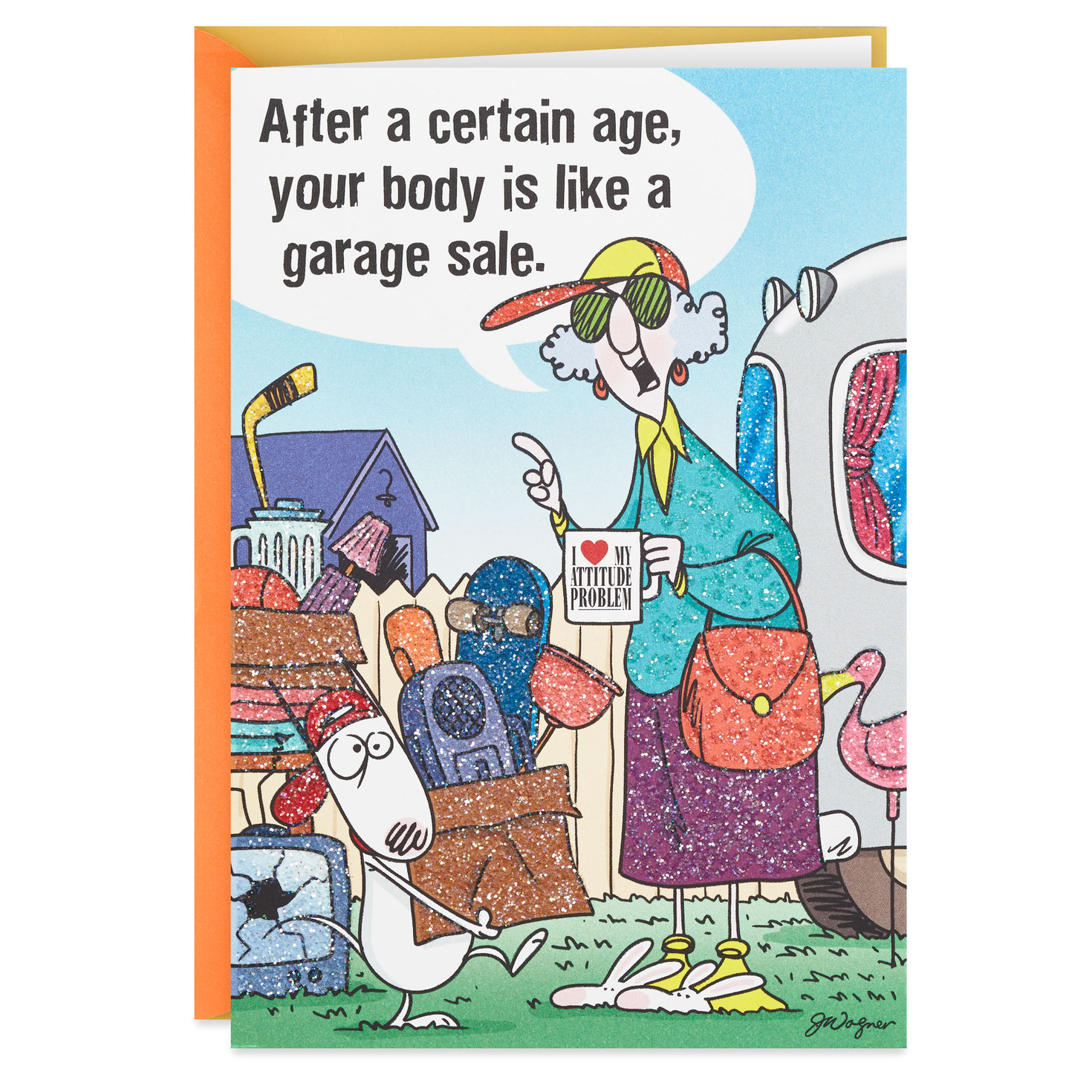 Maxine Aging Is Like A Garage Sale Funny Birthday Card