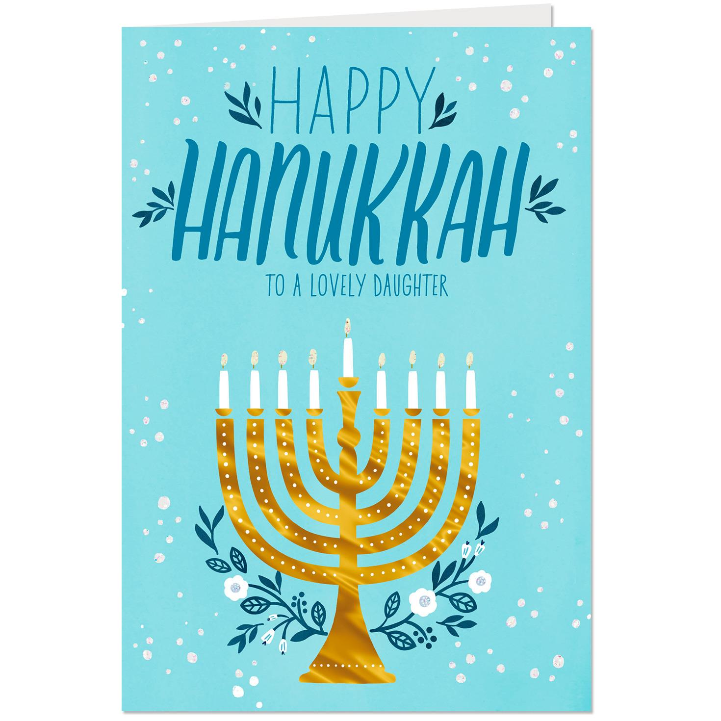 You light our life hanukkah card for daughter greeting cards you light our life hanukkah card for daughter m4hsunfo