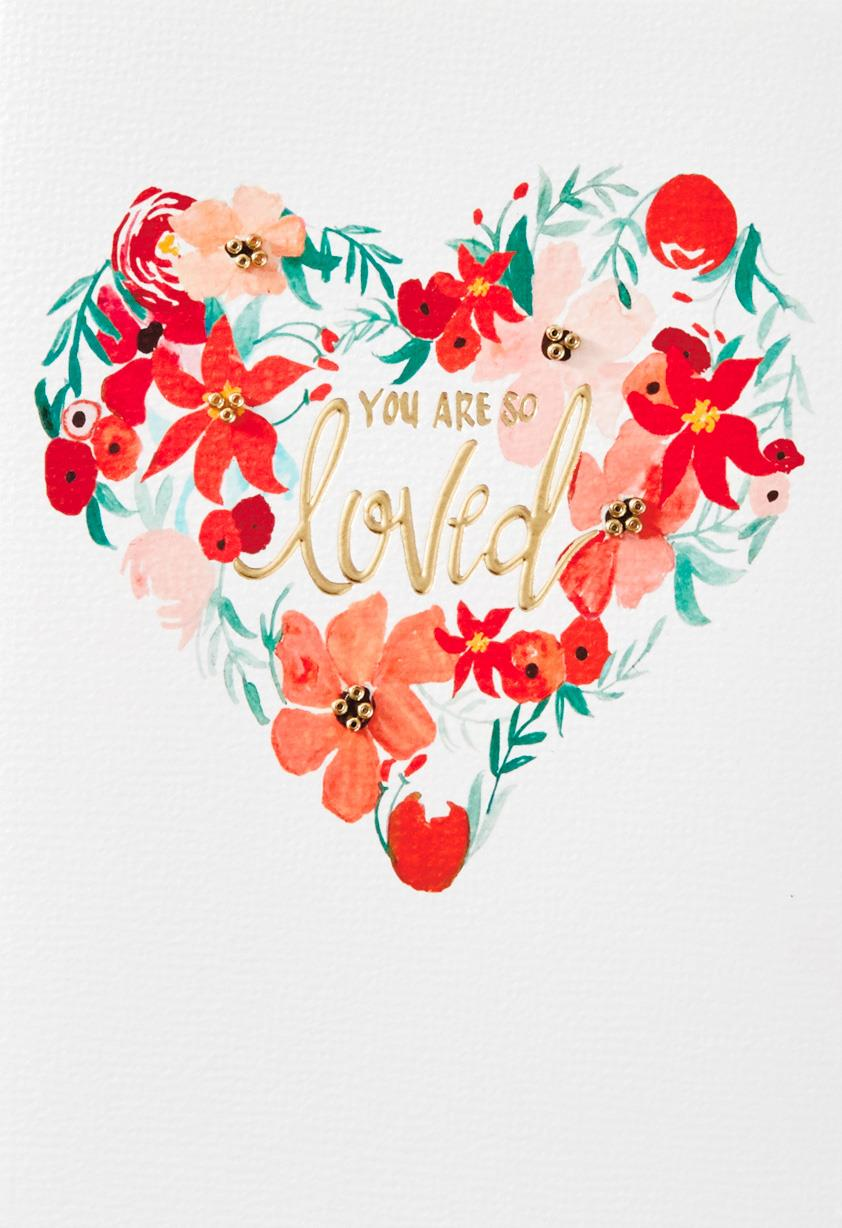 you are so loved christmas card - greeting cards