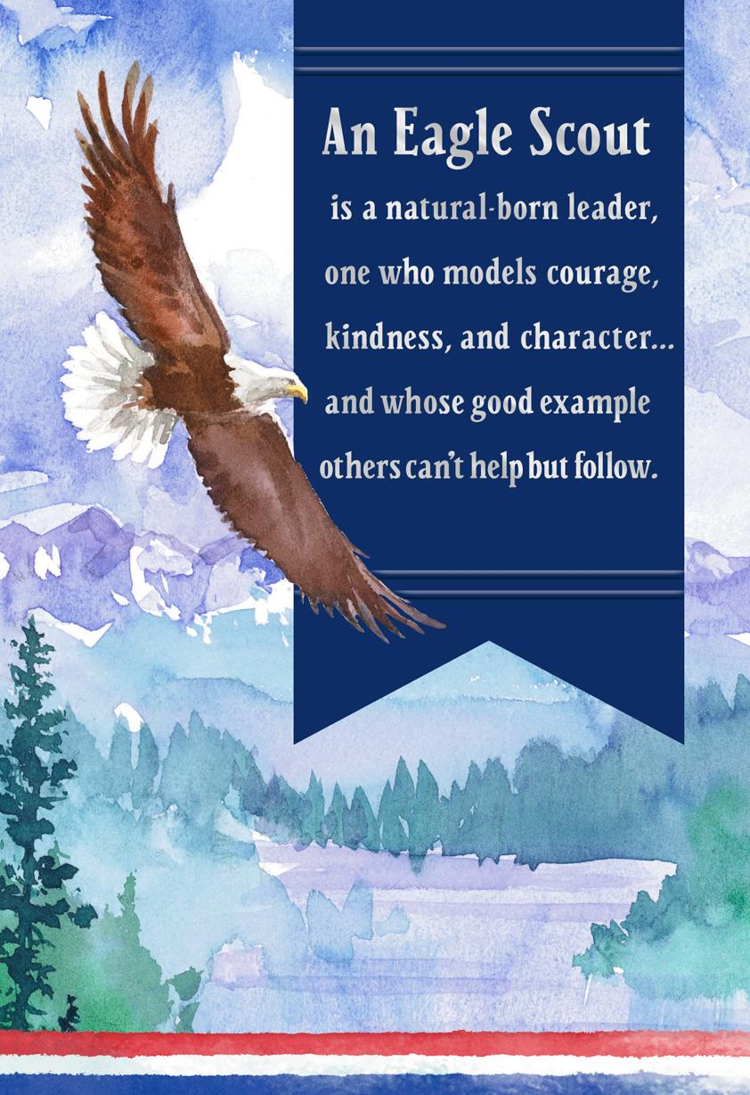 A Model Of Character Eagle Scout Congratulations Card
