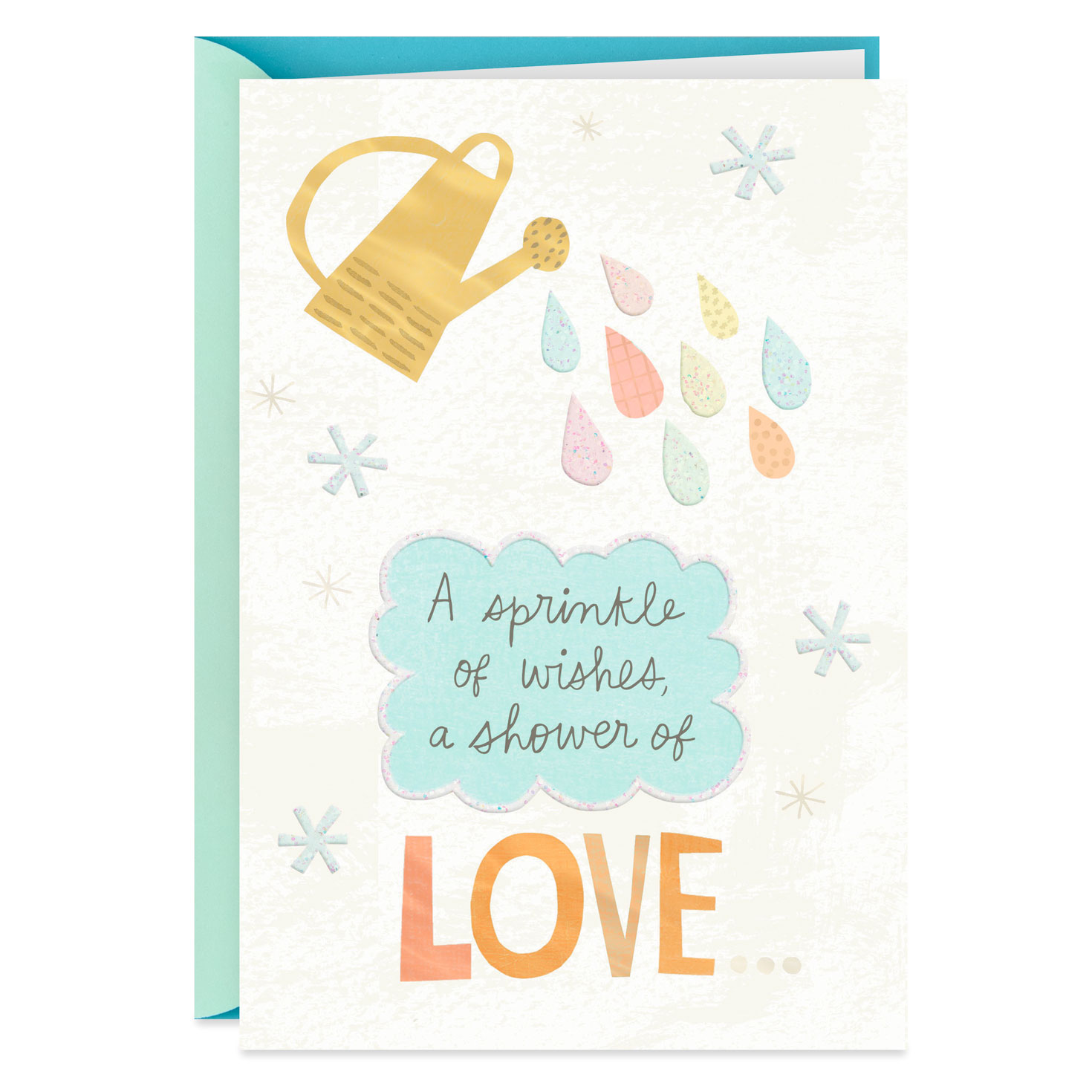sprinkle of wishes baby shower card  greeting cards