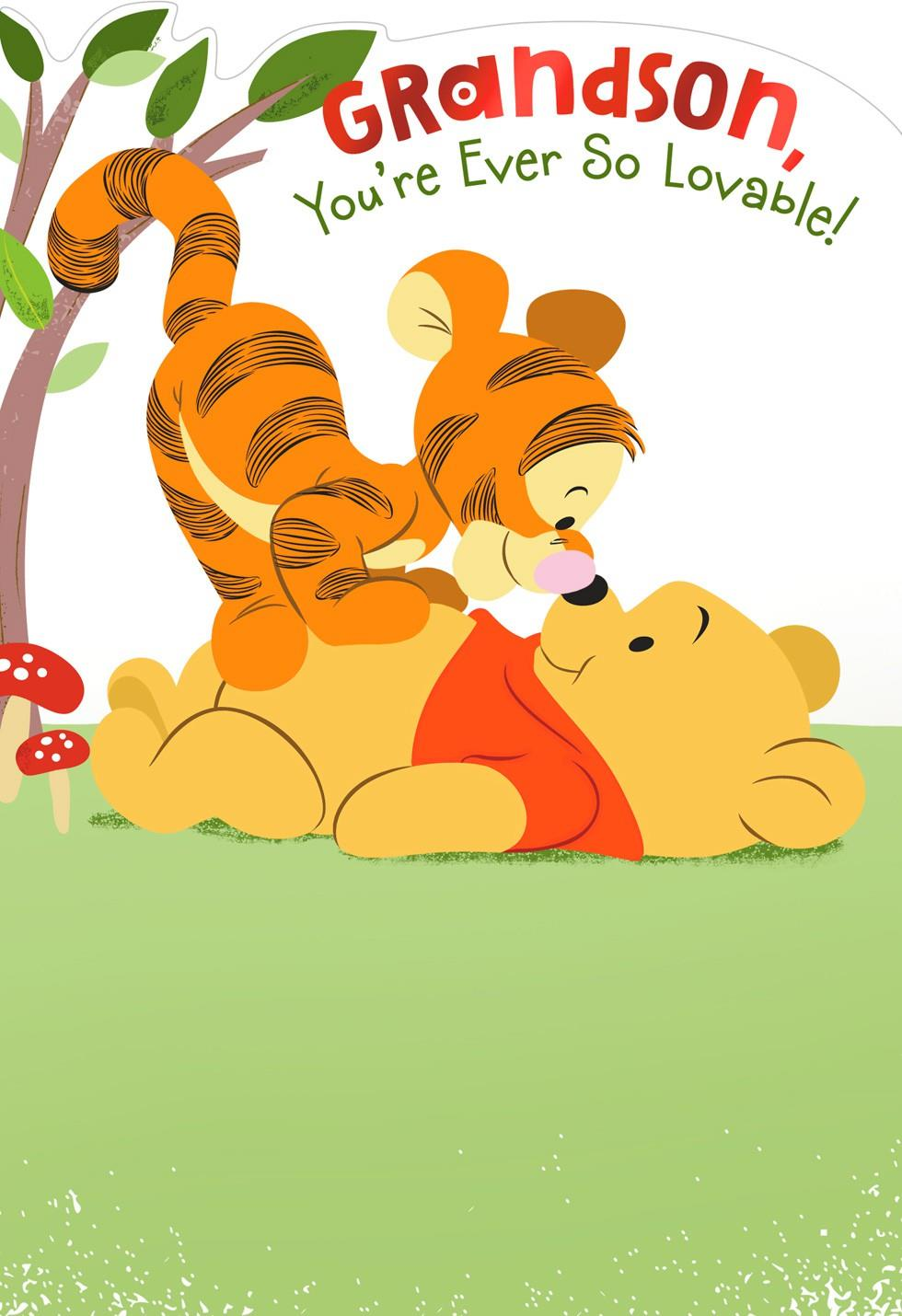 Winnie the Pooh Birthday Card for Grandson Greeting Cards Hallmark – Happy Birthday Card Hallmark