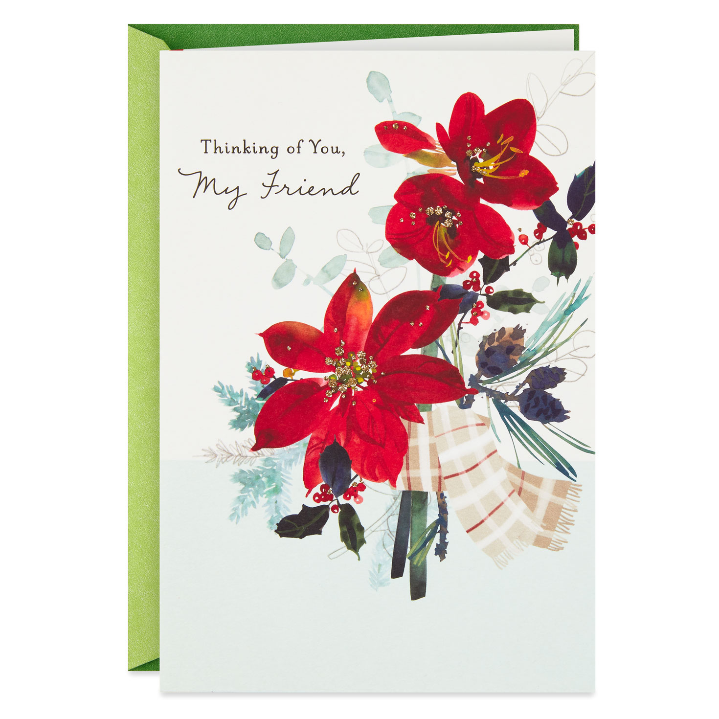 On My Mind and in My Heart Christmas Card for Friend - Greeting Cards - Hallmark