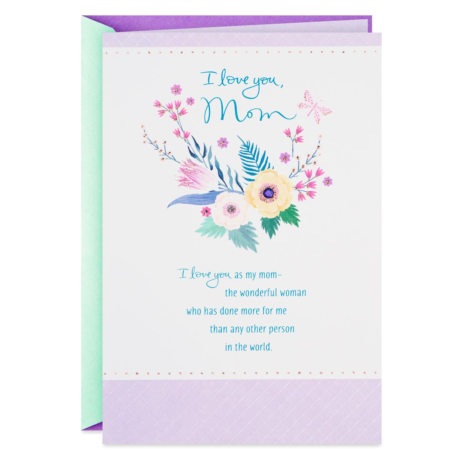 Flowers For A Wonderful Woman Birthday Card Mom