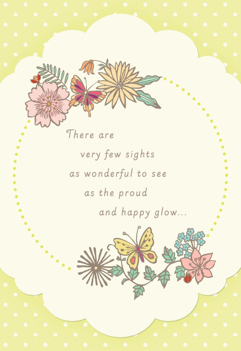 Flowers And Butterflies New Grandmother Card