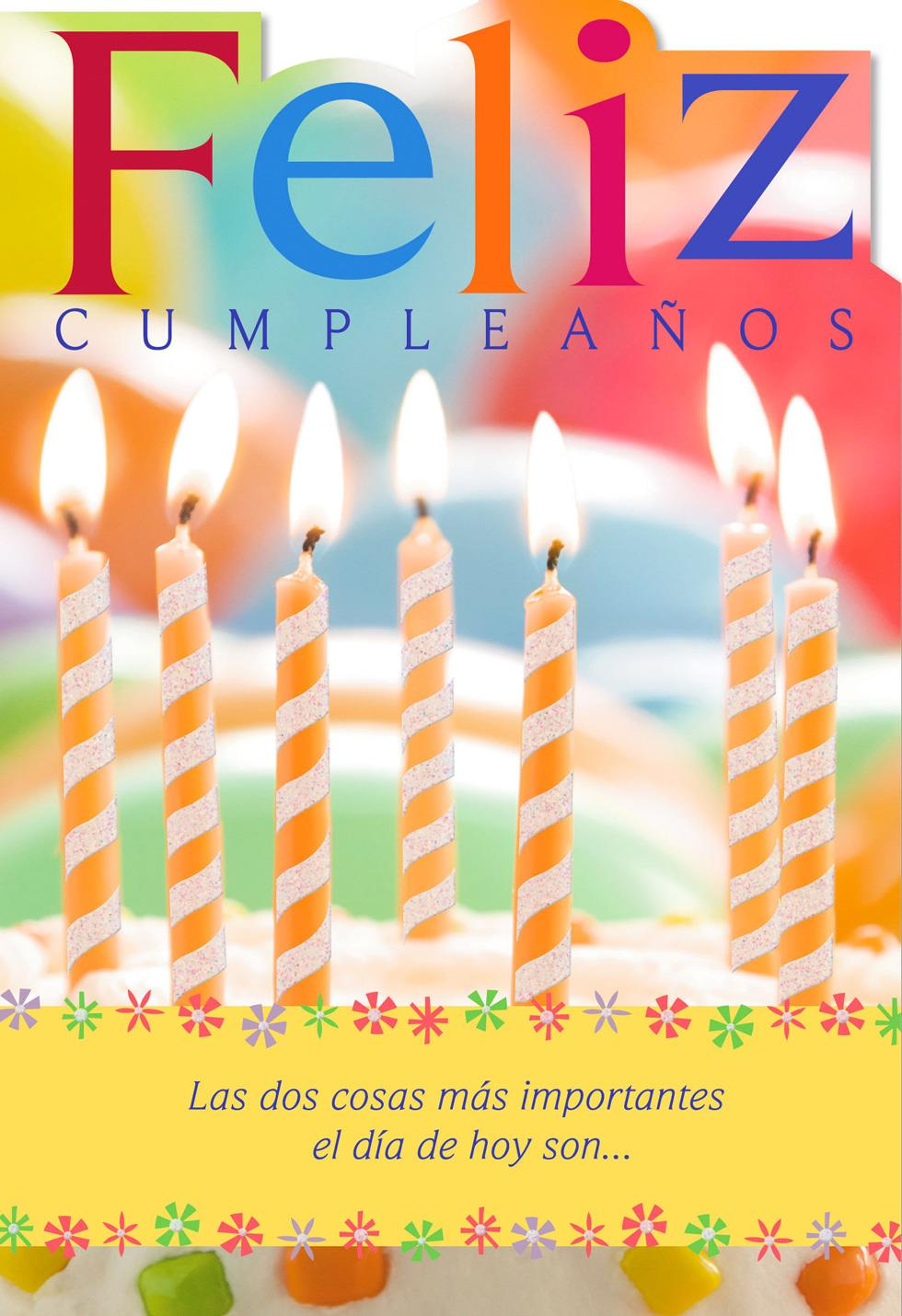 Candles Spanish-Language Religious Birthday Card ...