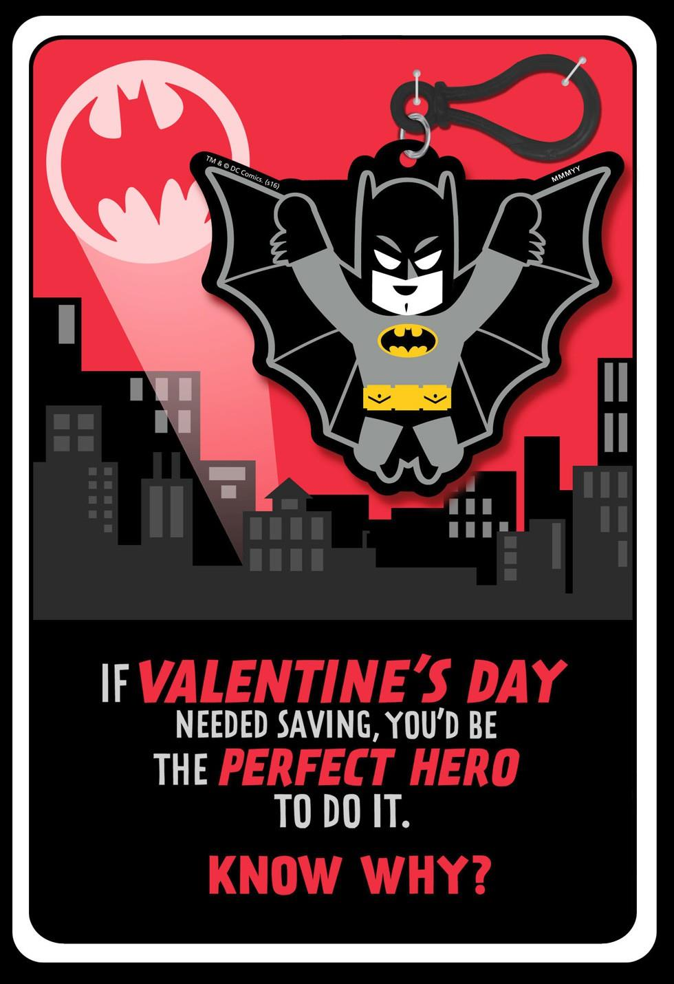 BATMAN Valentines Day Card With Attachment Greeting Cards – Batman Valentines Day Card
