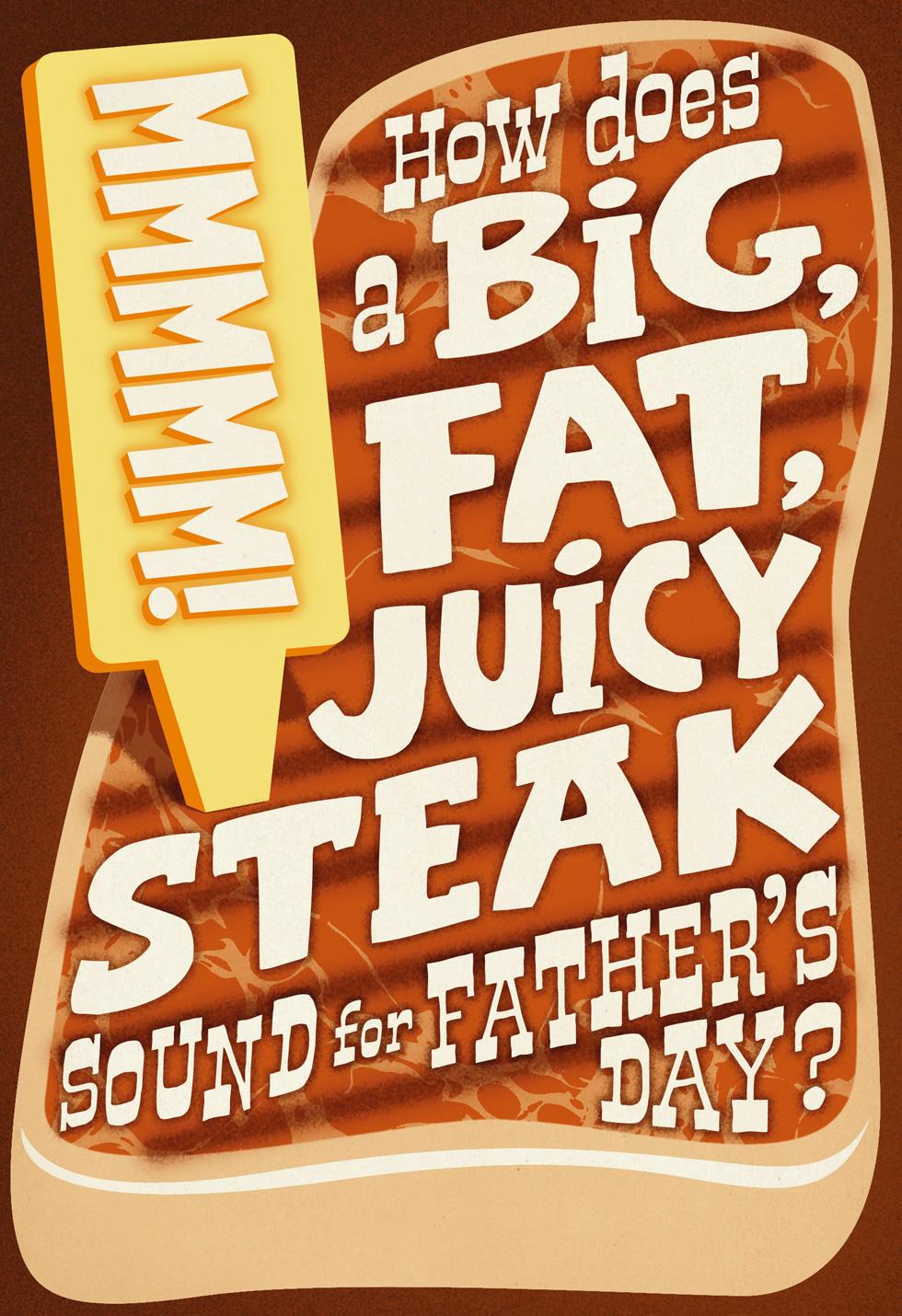 funny steak jokes father u0026 39 s day card