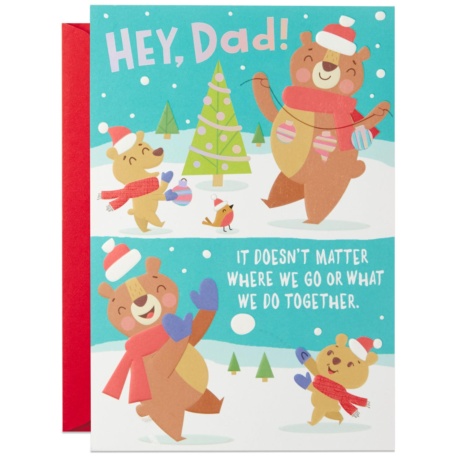 Always Cool With You Christmas Card For Dad