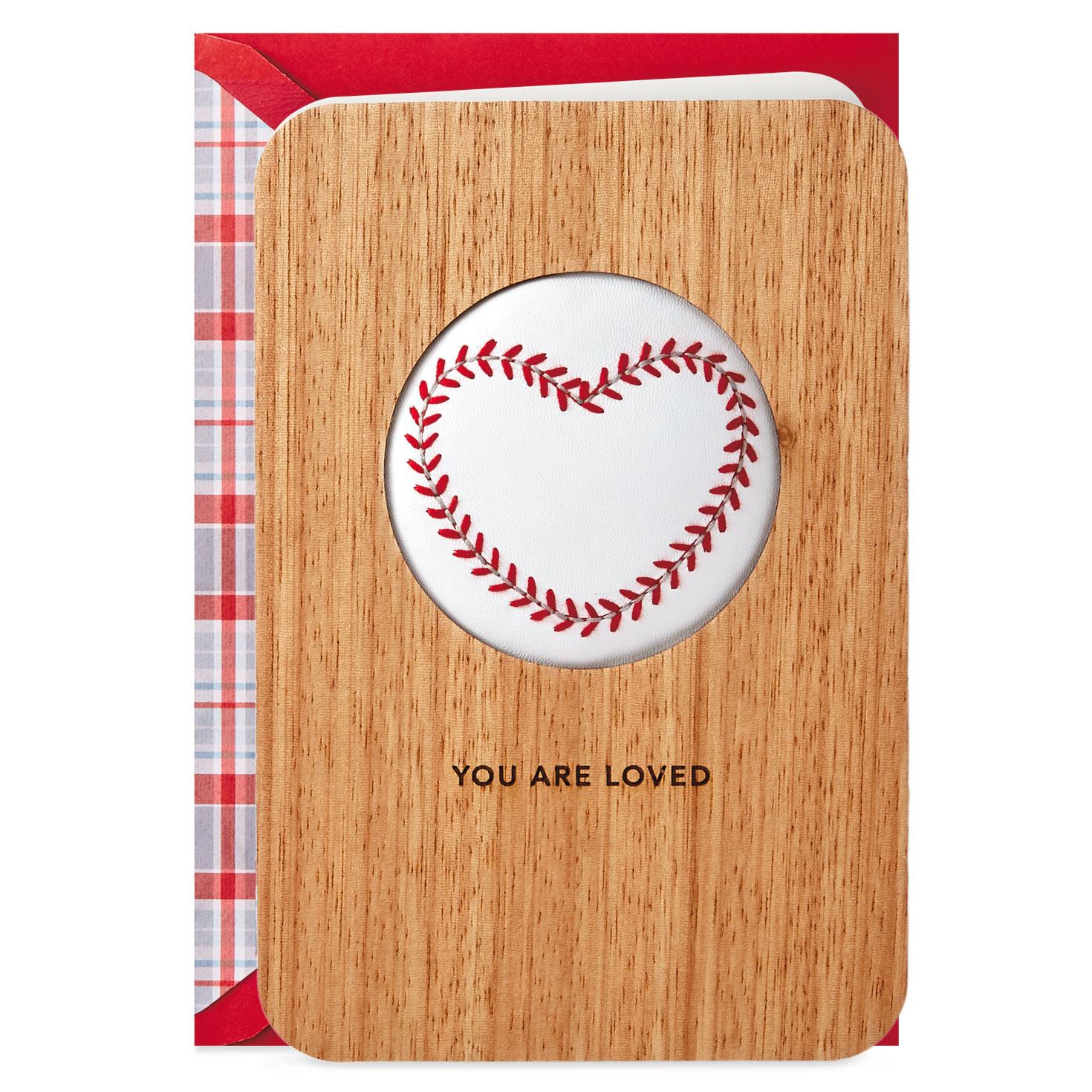 Big Time Love Baseball Valentines Day Card