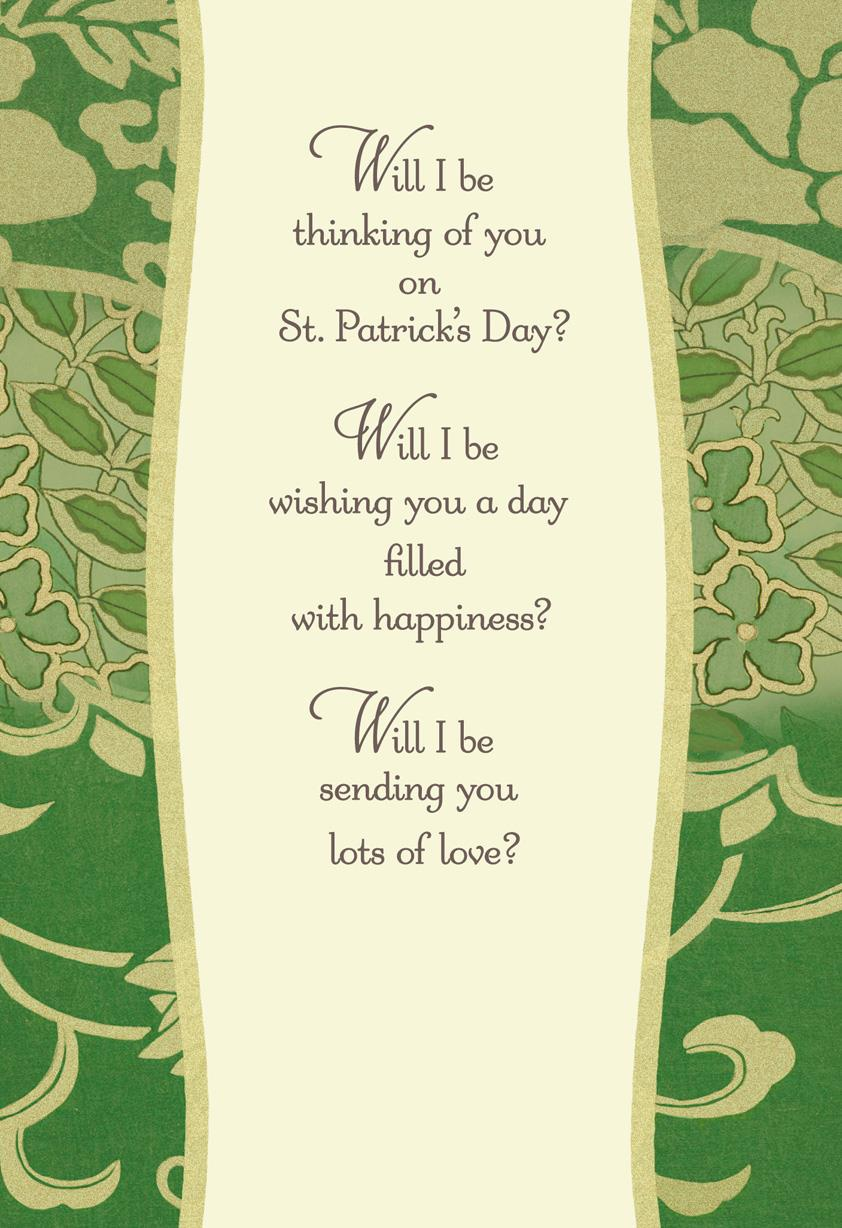 Thinking Of You St Patricks Day Card Greeting Cards Hallmark