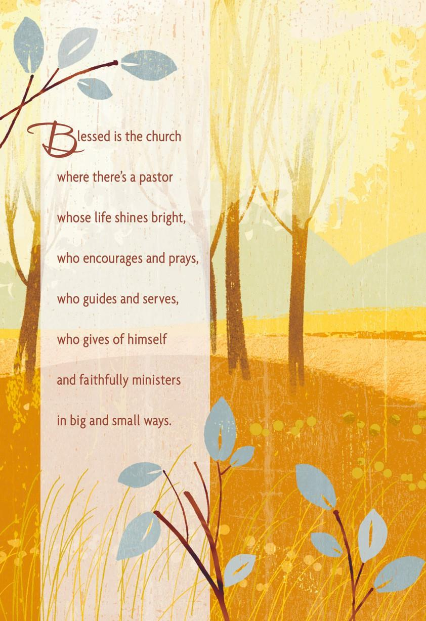 Thank The Lord For You Pastor Clergy Appreciation Card Greeting
