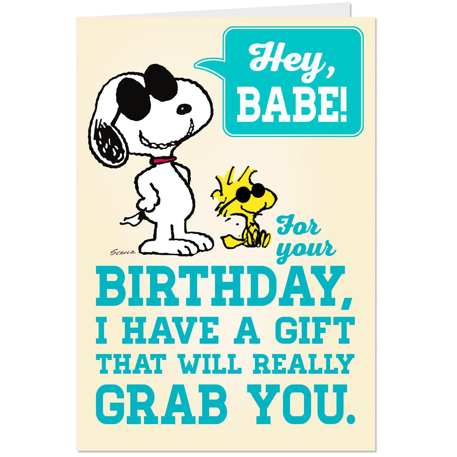 PeanutsR Joe Cool Snoopy Pop Up Birthday Card