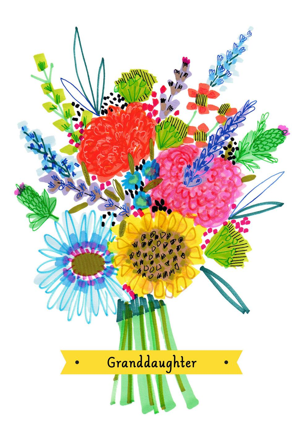 Colorful flower bouquet mother 39 s day card for Hallmark flowers