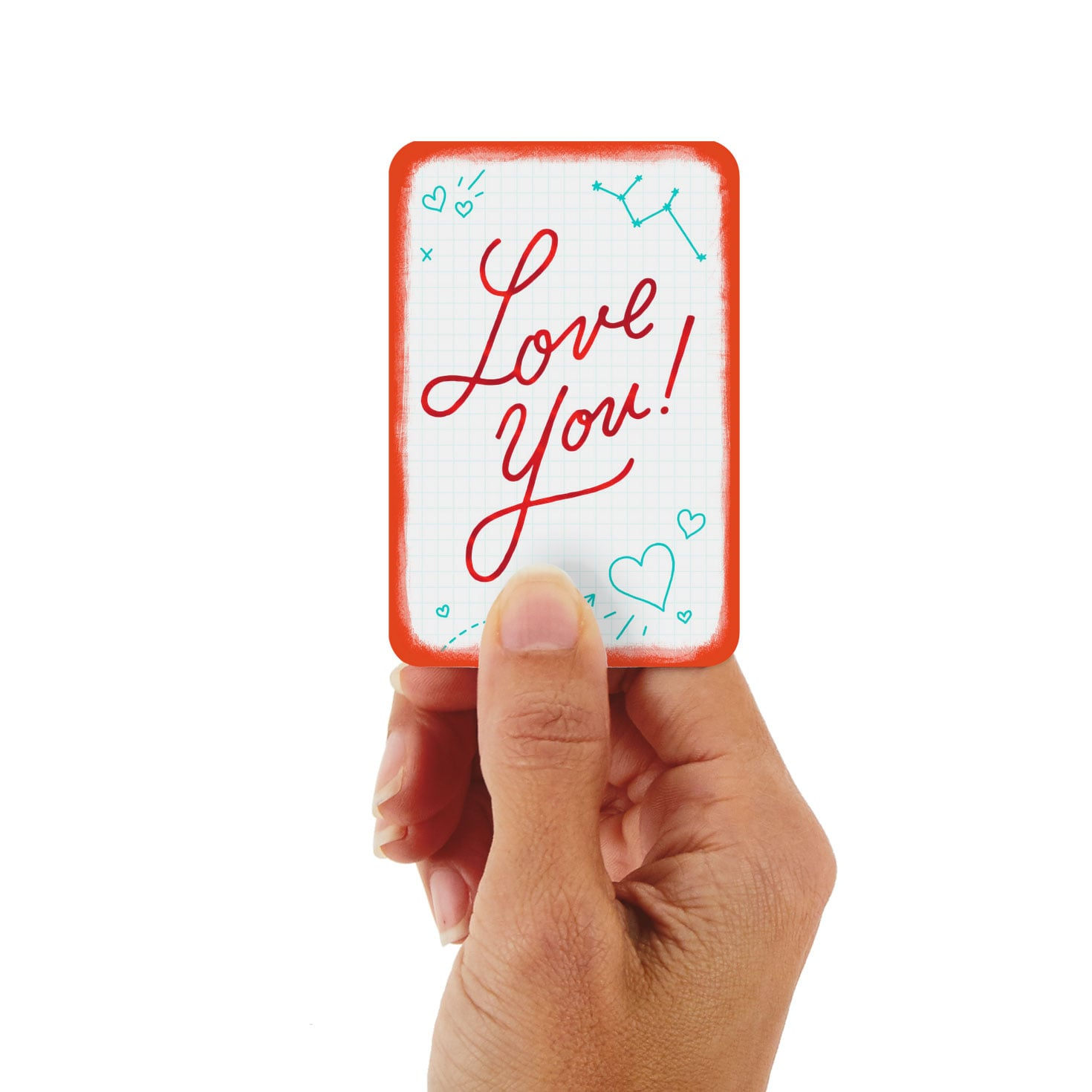 """3.25"""" Mini Love You Graph Paper Love Card - Greeting Cards ..."""