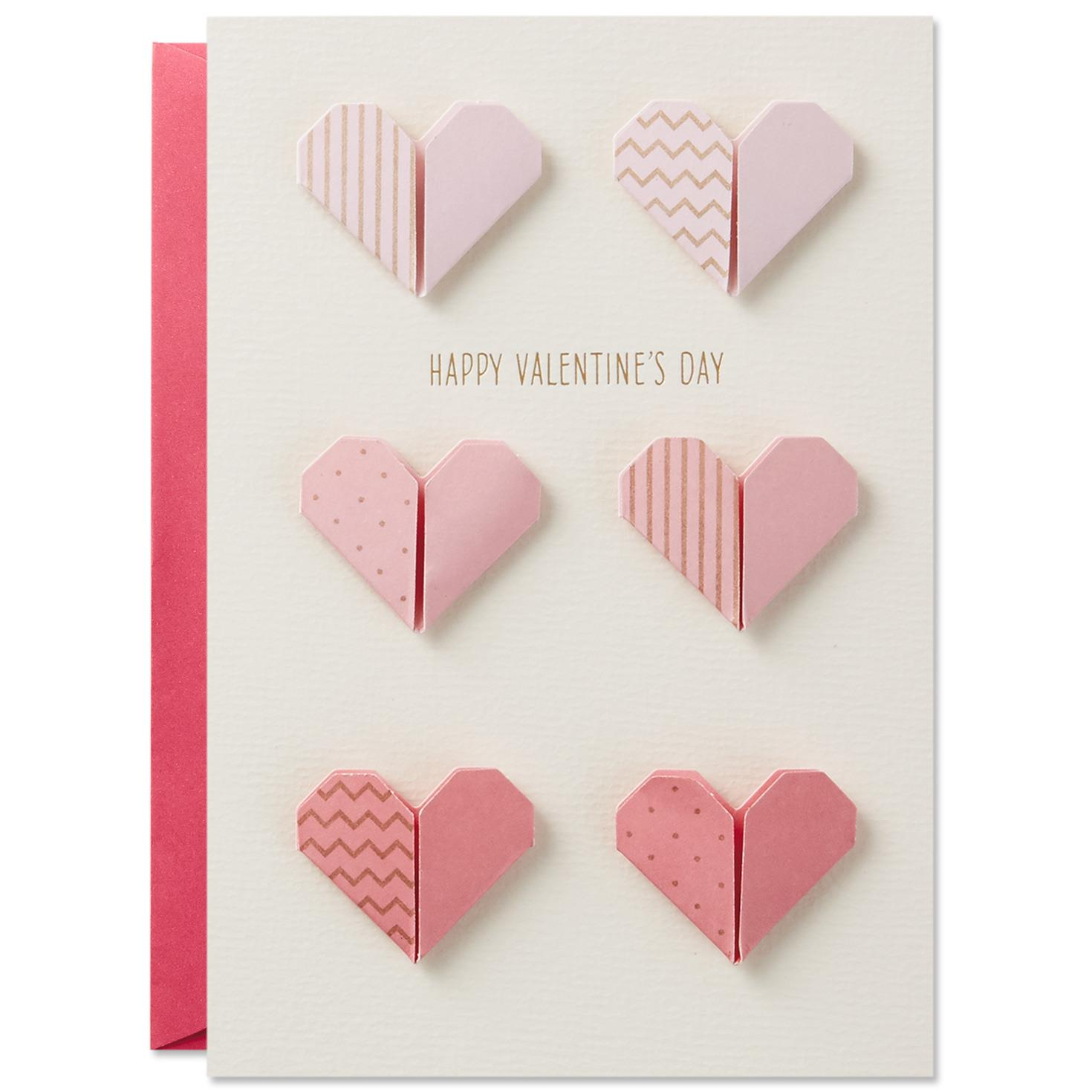 Folded Hearts Valentine s Day Card for Anyone Greeting Cards