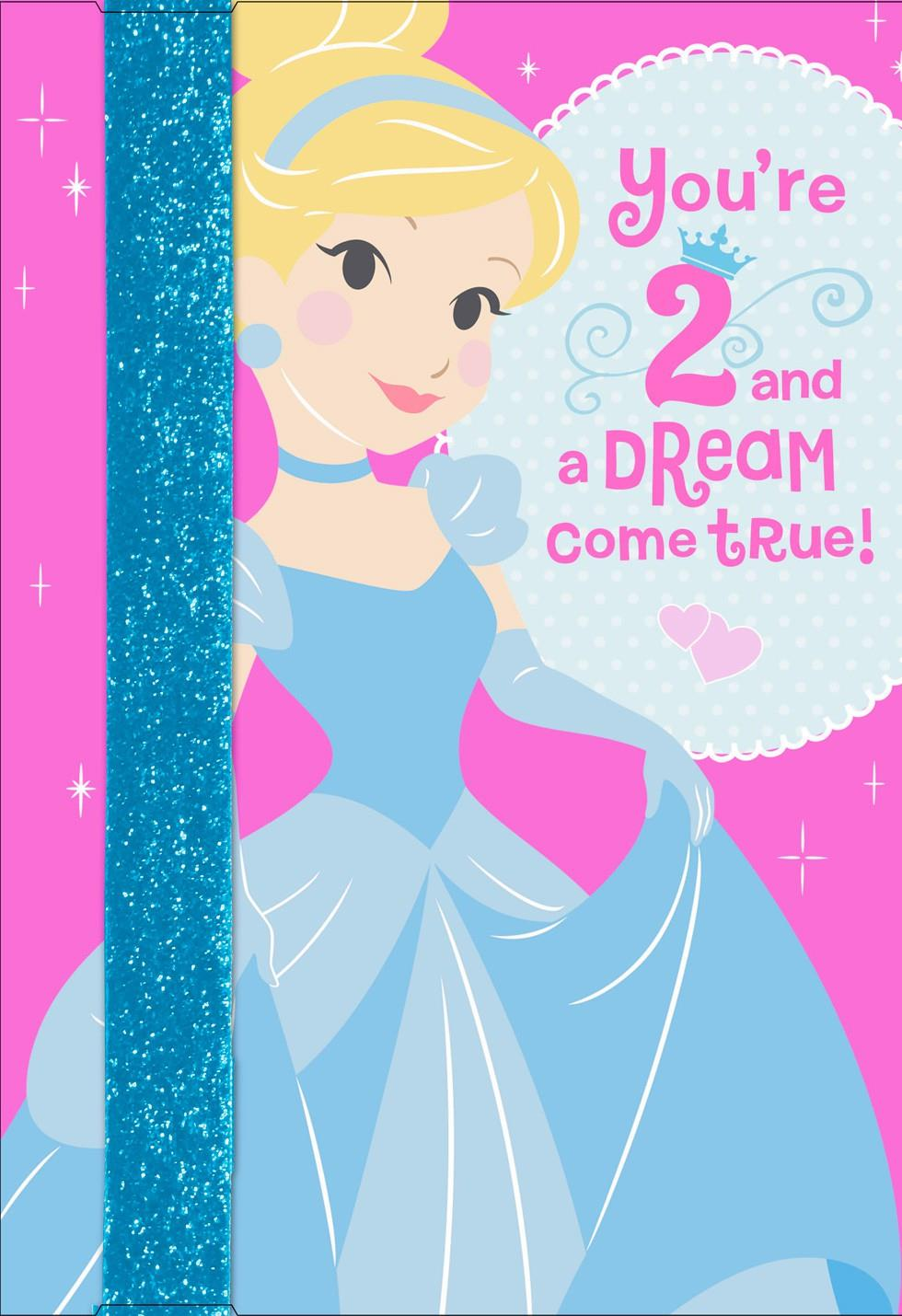 Cinderella 2nd Birthday Card With Wearable Headband