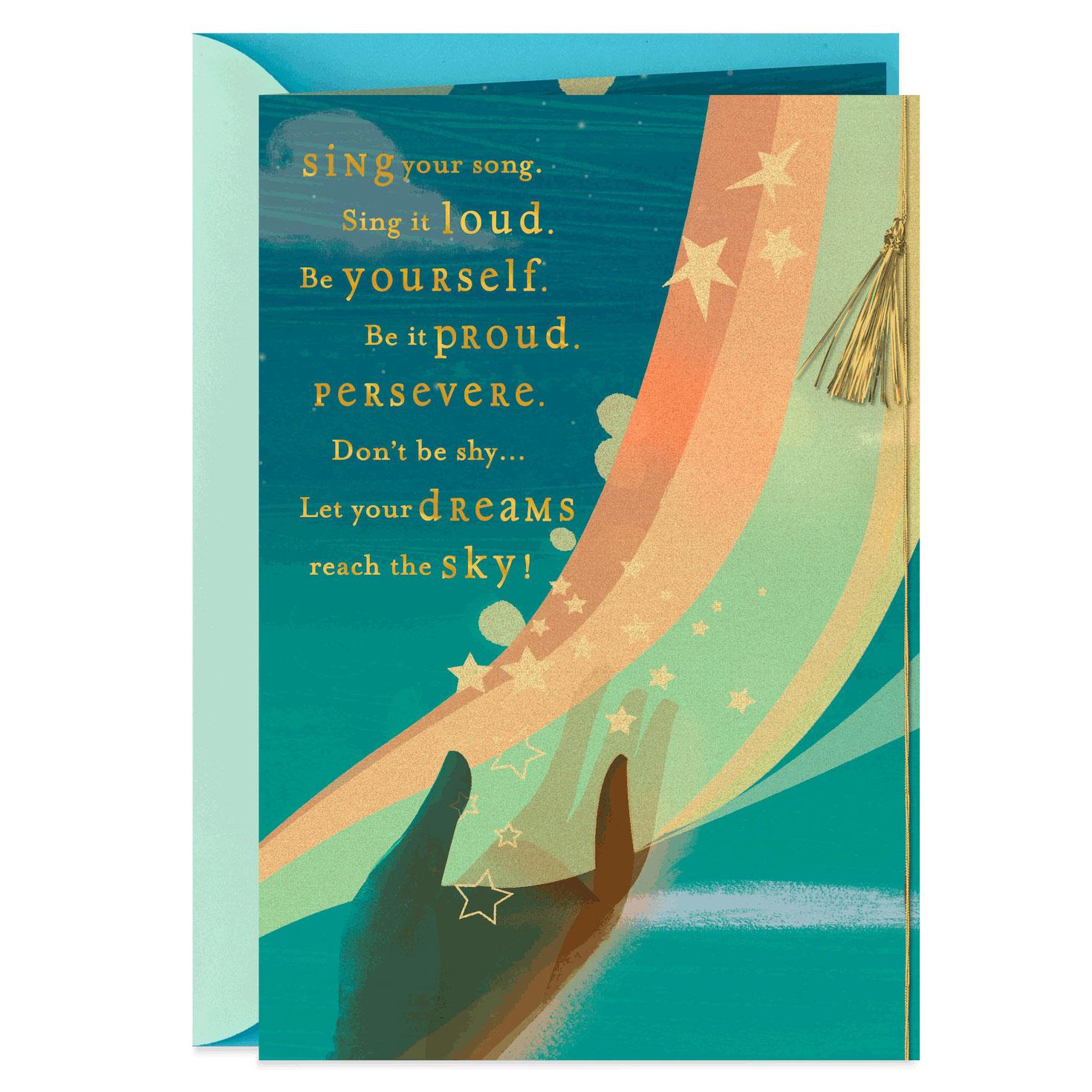 reach the sky religious graduation card  greeting cards