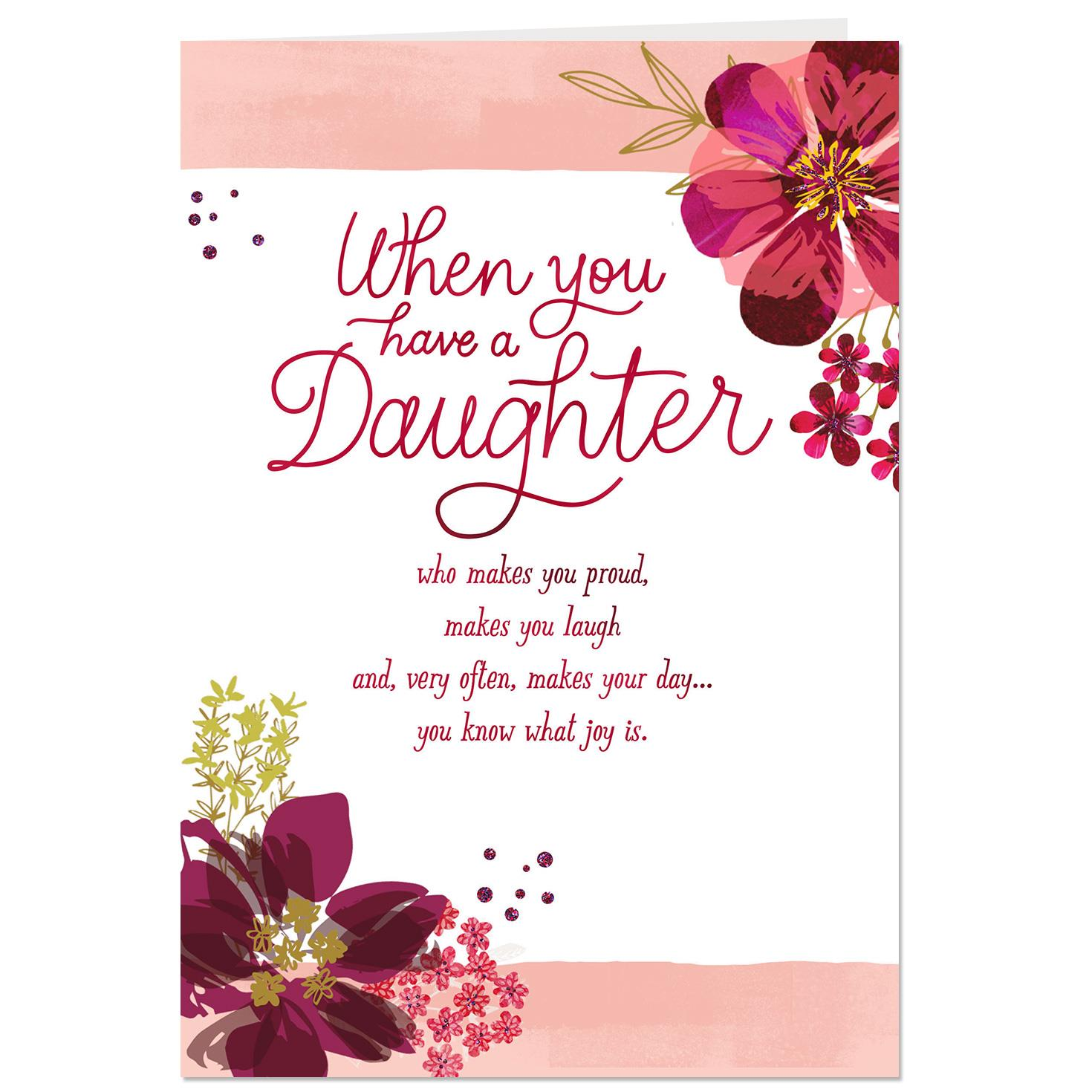 Valentine s day flowers for daughter flowers healthy you bring me joy valentine s day card for daughter m4hsunfo