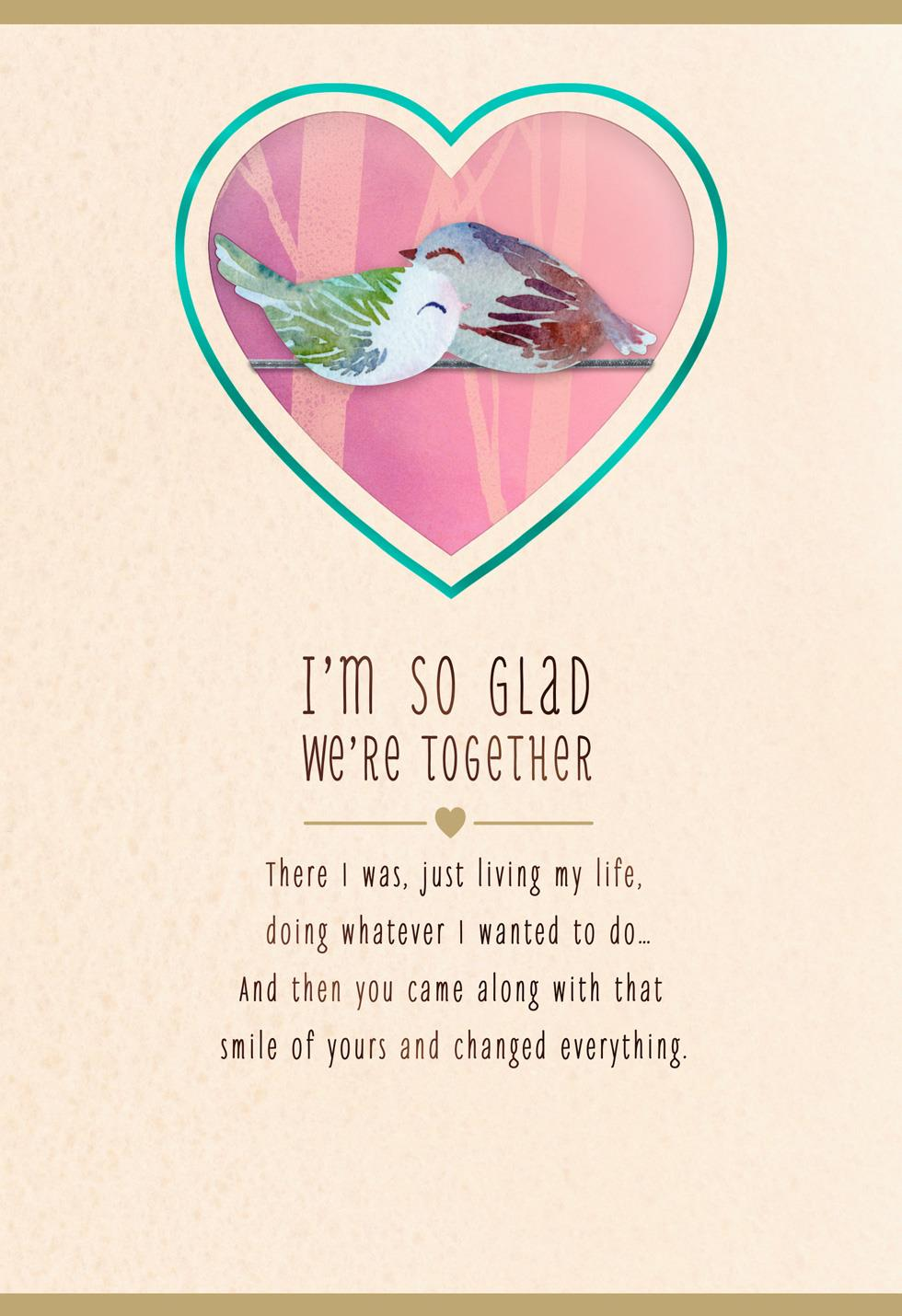 So Glad We Re Together Valentine S Day Card Greeting