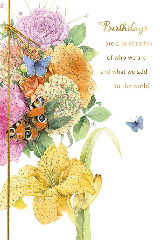 Marjolein bastin bouquet with butterflies birthday card greeting marjolein bastin bouquet with butterflies birthday card m4hsunfo
