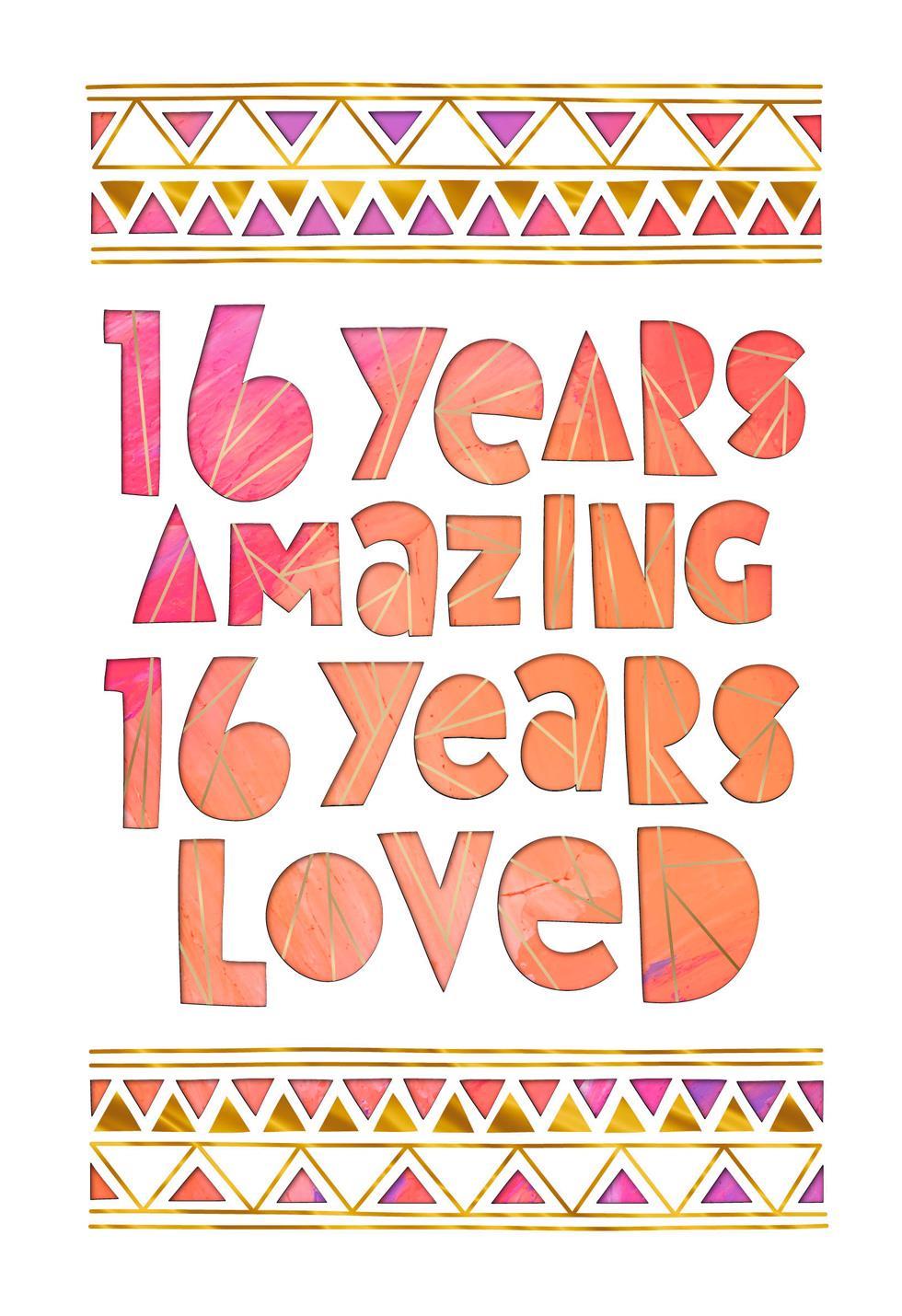 16 Years Amazing 16th Birthday Card