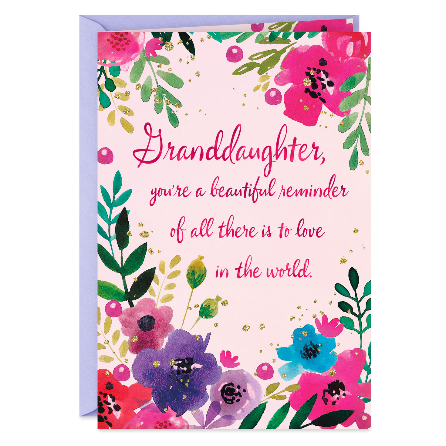 lovely and loved birthday card for granddaughter