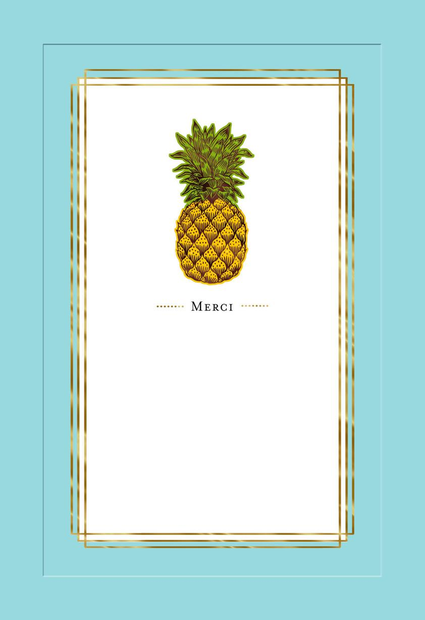 Pineapple Merci Thank You Card Greeting Cards Hallmark