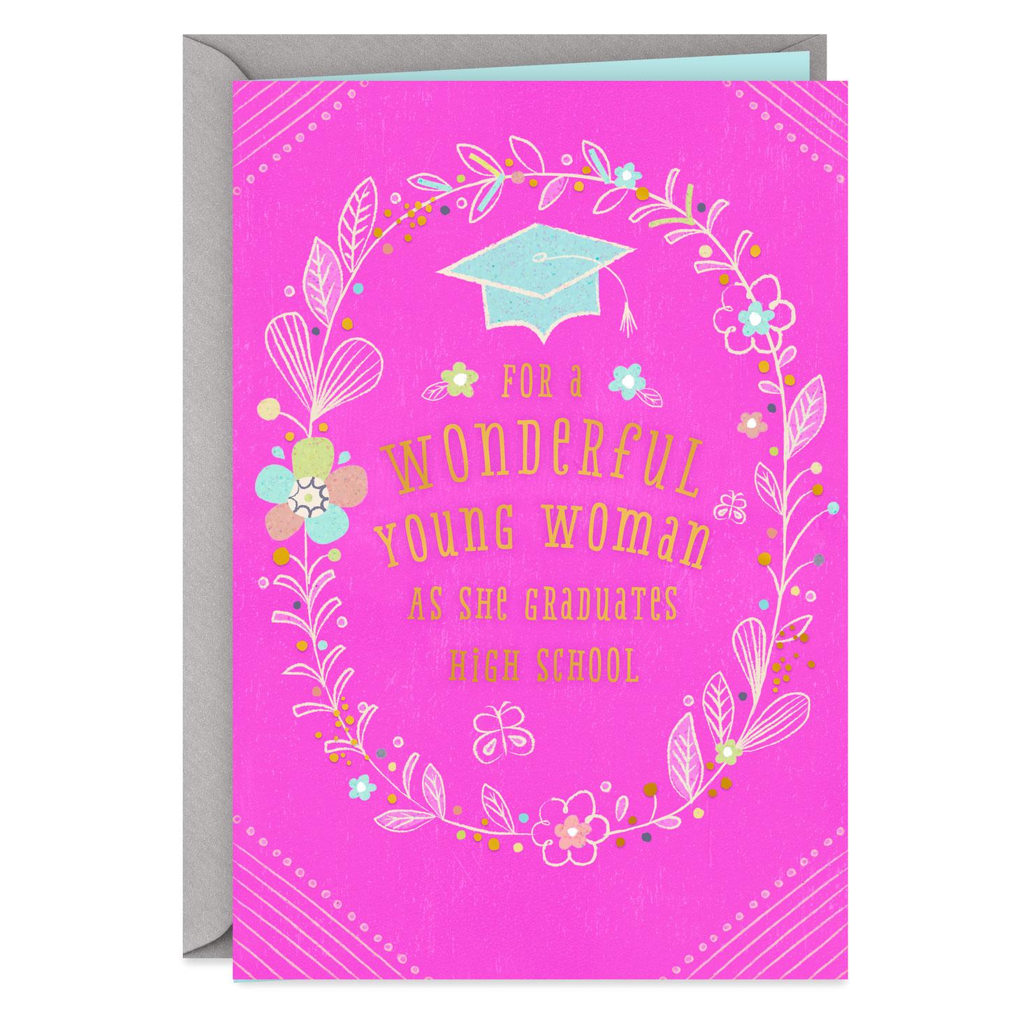 Bright And Beautiful Future High School Graduation Card